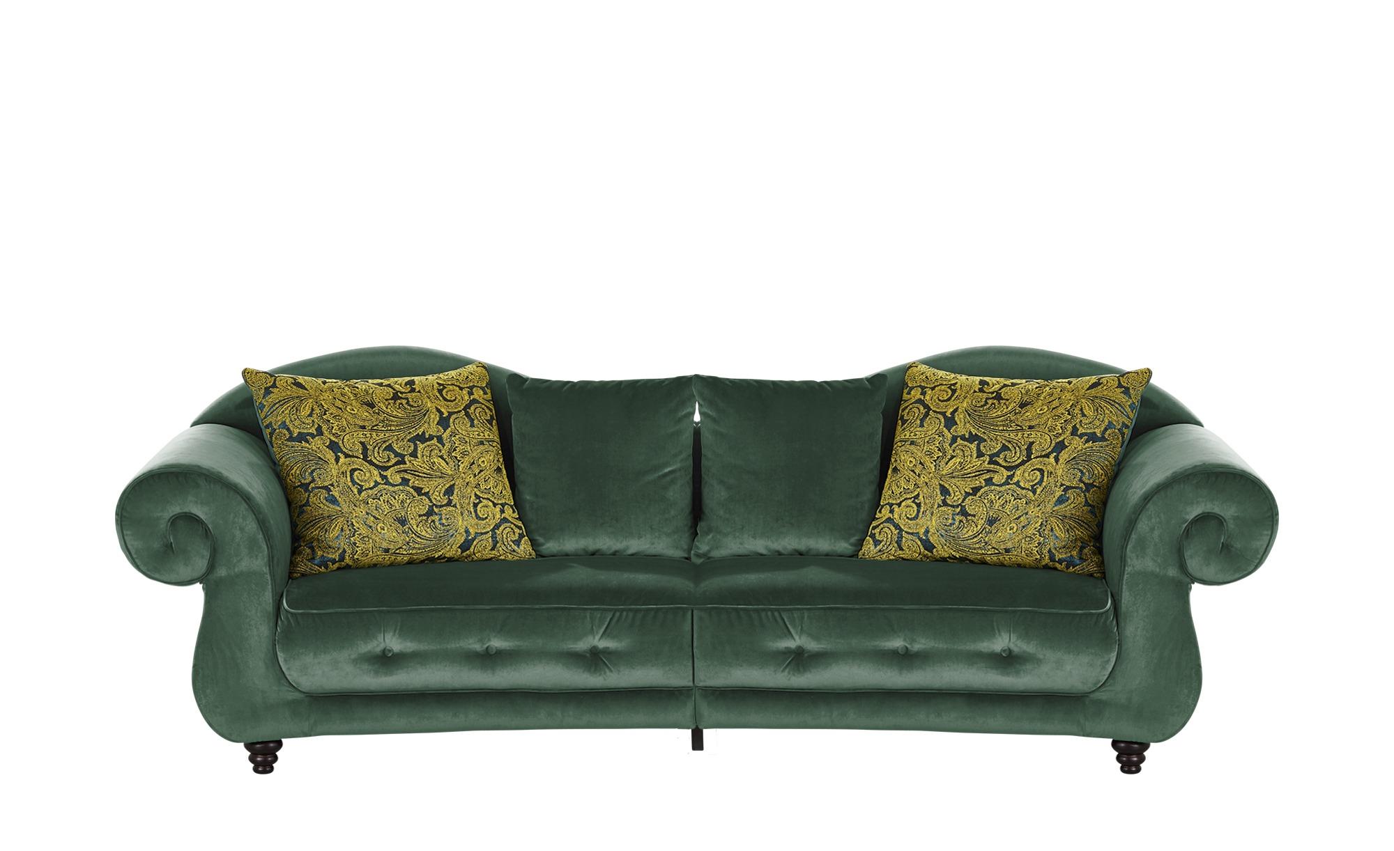 Design Big Sofa grün - Mikrofaser Nobody ¦ grün ¦ Maße (cm): B: 288 H: 98 T: 110 Polstermöbel > Sofas > Big-Sofas - Höffner