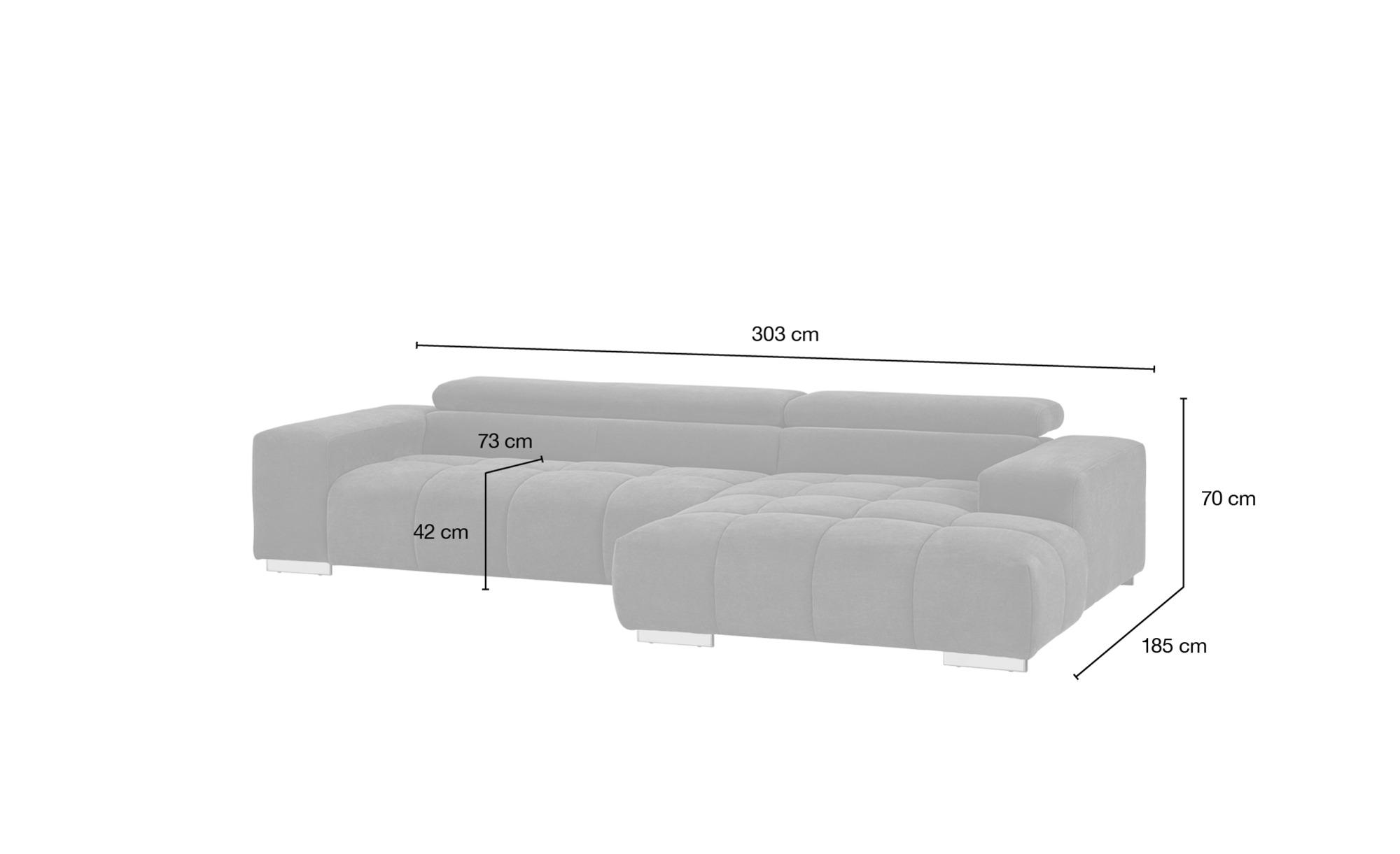 uno Ecksofa grün - Mikrofaser Origo ¦ grün ¦ Maße (cm): H: 70 Polstermöbel > Sofas > Ecksofas - Höffner