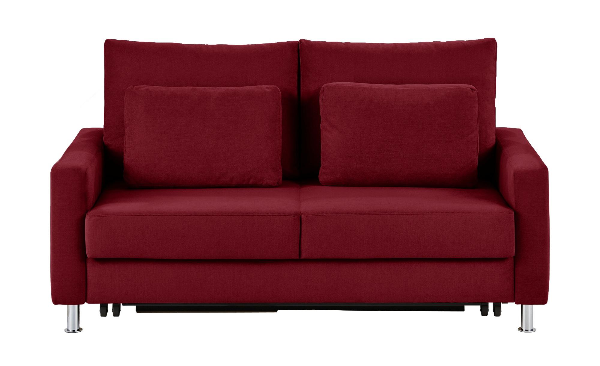 Schlafsofa rot - Mikrofaser Fürth ¦ rot ¦ Maße (cm): B: 186 H: 90 T: 95 Polstermöbel > Sofas > 2-Sitzer - Höffner