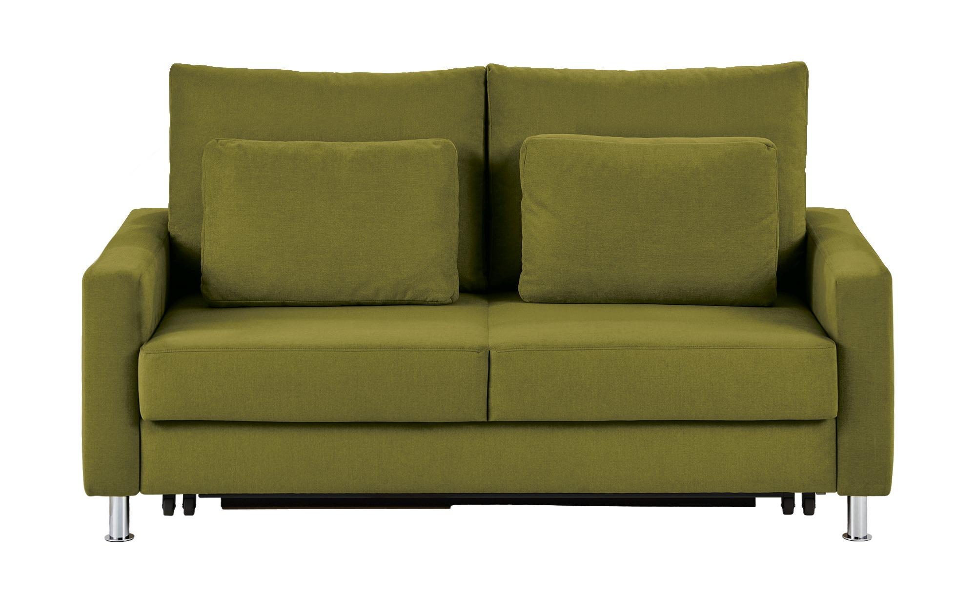 Schlafsofa grün - Mikrofaser Fürth ¦ grün ¦ Maße (cm): B: 186 H: 90 T: 95 Polstermöbel > Sofas > 2-Sitzer - Höffner