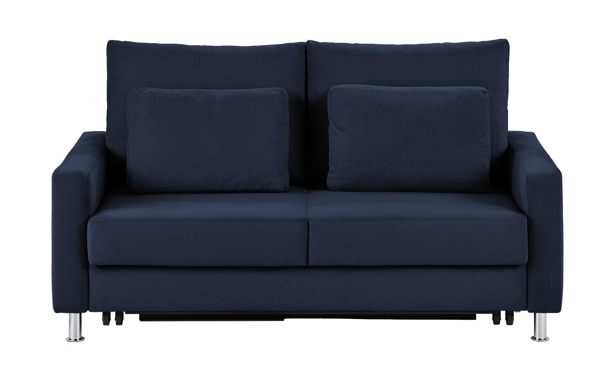 Schlafsofa blau - Mikrofaser Fürth ¦ blau ¦ Maße (cm): B: 146 H: 90 T: 95 Polstermöbel > Sofas > 2-Sitzer - Höffner