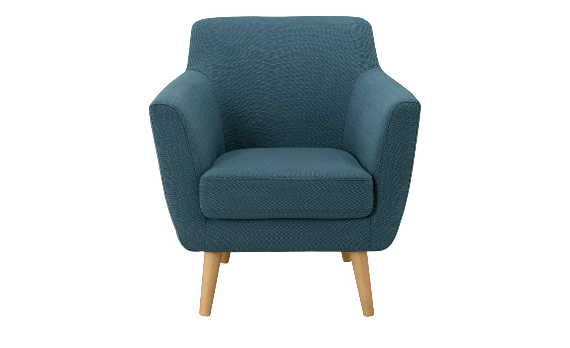 SOHO Sessel petrol - Stoff Dagny ¦ türkis/petrol ¦ Maße (cm): B: 74 H: 78 T: 75 Polstermöbel > Sessel > Polstersessel - Höffner
