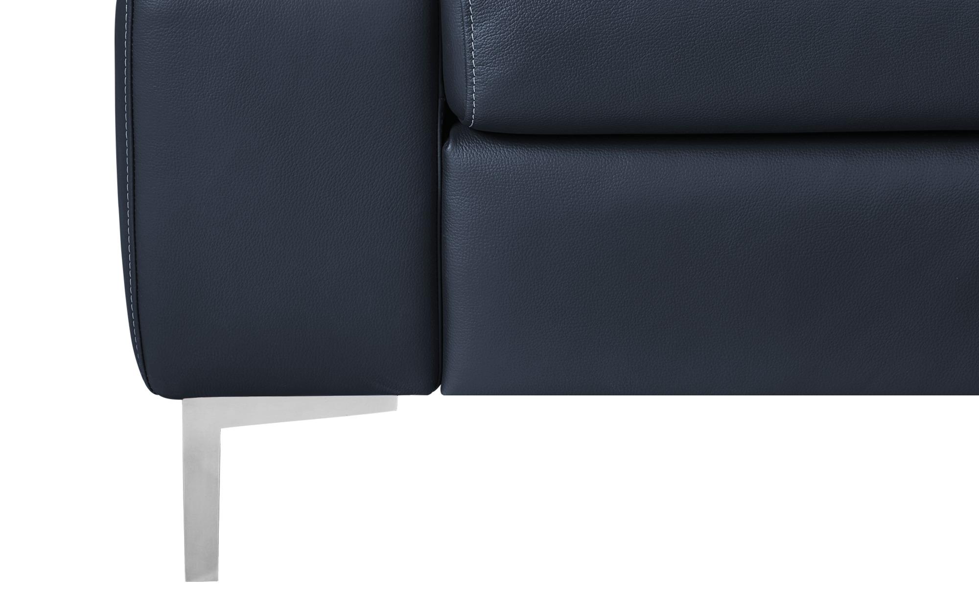 W.SCHILLIG Ecksofa blau - Leder Arturo ¦ blau ¦ Maße (cm): H: 70 Polstermöbel > Sofas > Ecksofas - Höffner