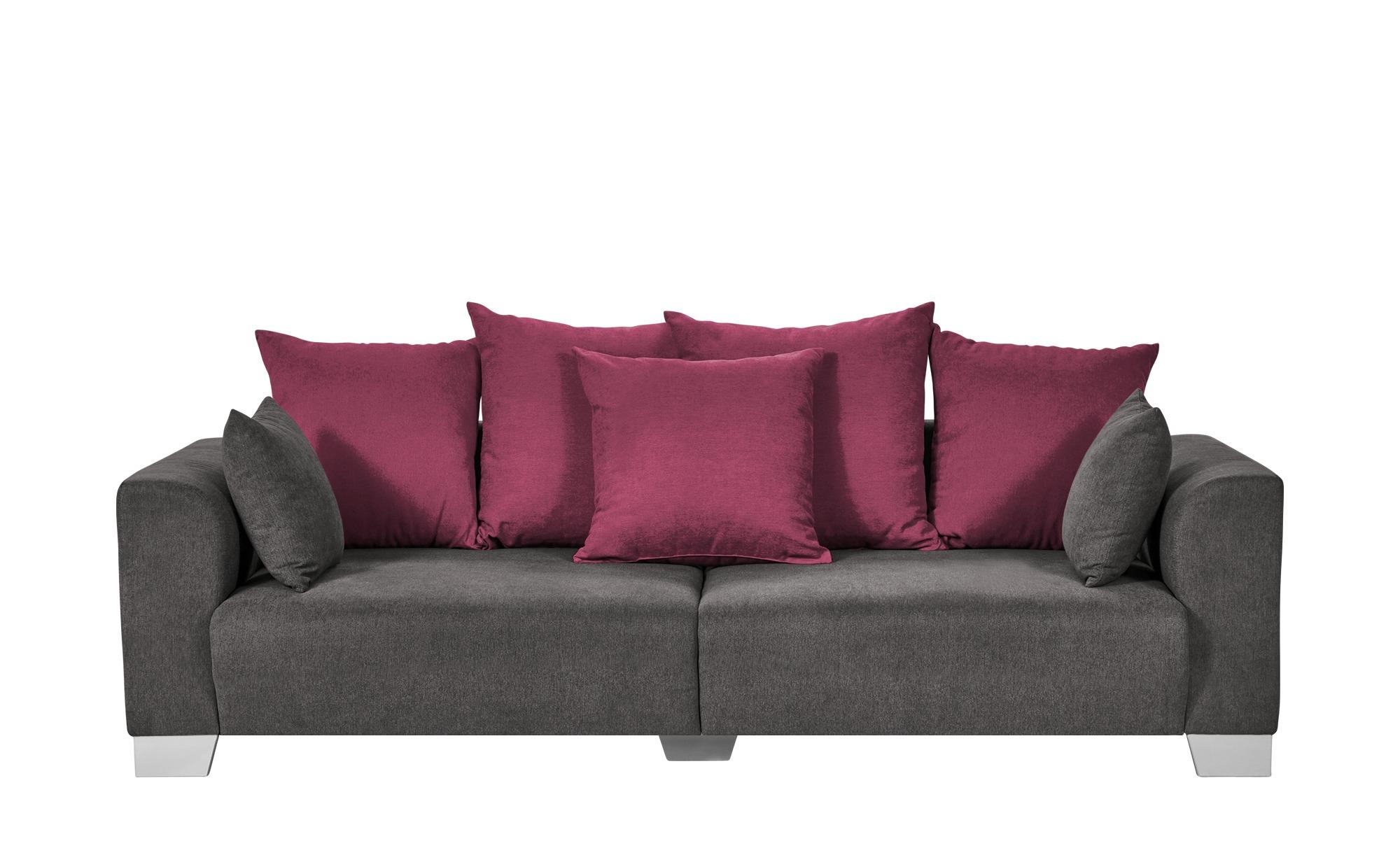 smart Big Sofa grau-braun - Flachgewebe Tonja ¦ grau ¦ Maße (cm): B: 244 H: 68 T: 107 Polstermöbel > Sofas > Big-Sofas - Höffner