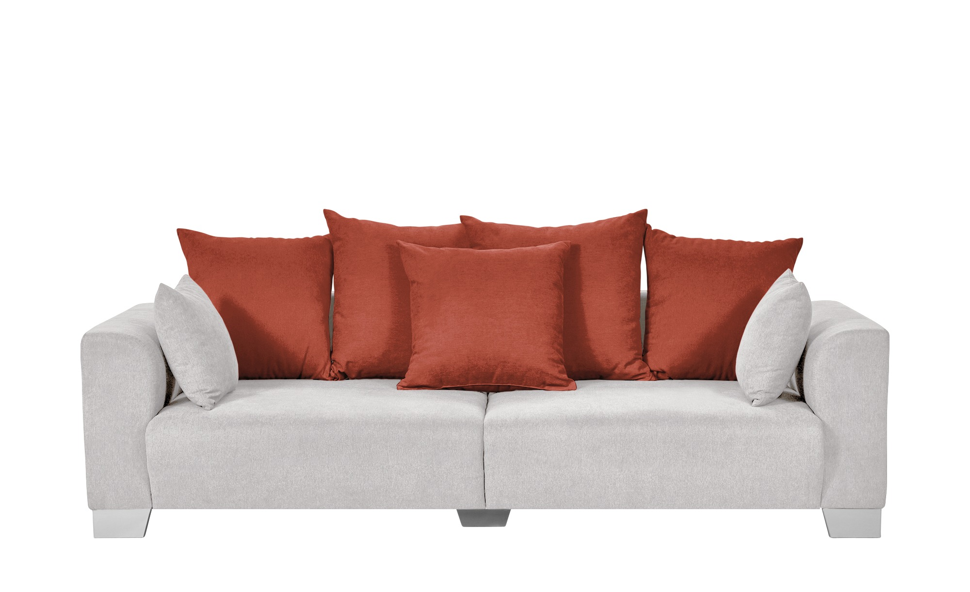 smart Big Sofa weiß - Flachgewebe Tonja ¦ weiß ¦ Maße (cm): B: 244 H: 68 T: 107 Polstermöbel > Sofas > Big-Sofas - Höffner