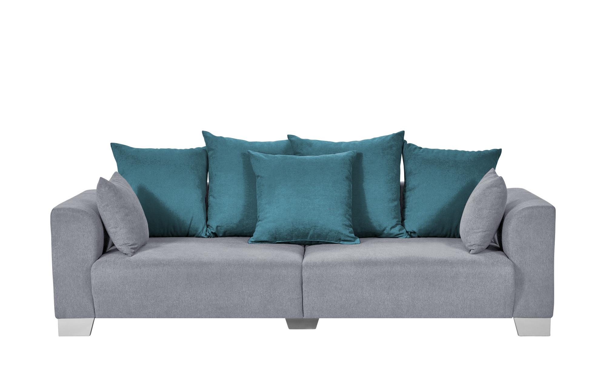 smart Big Sofa grau - Flachgewebe Tonja ¦ grau ¦ Maße (cm): B: 244 H: 68 T: 107 Polstermöbel > Sofas > Big-Sofas - Höffner