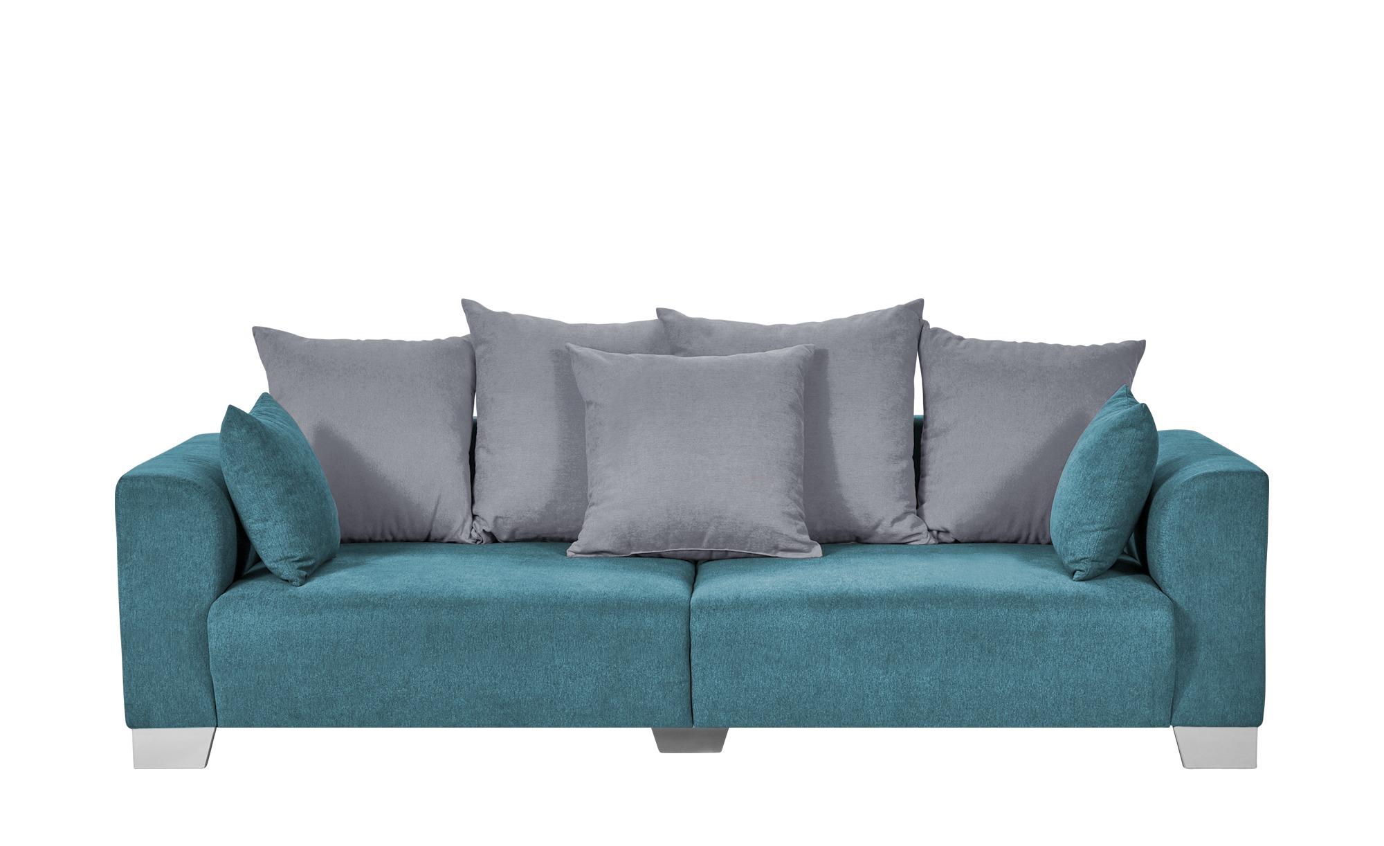 smart Big Sofa petrol - Flachgewebe Tonja ¦ türkis/petrol ¦ Maße (cm): B: 244 H: 68 T: 107 Polstermöbel > Sofas > Big-Sofas - Höffner