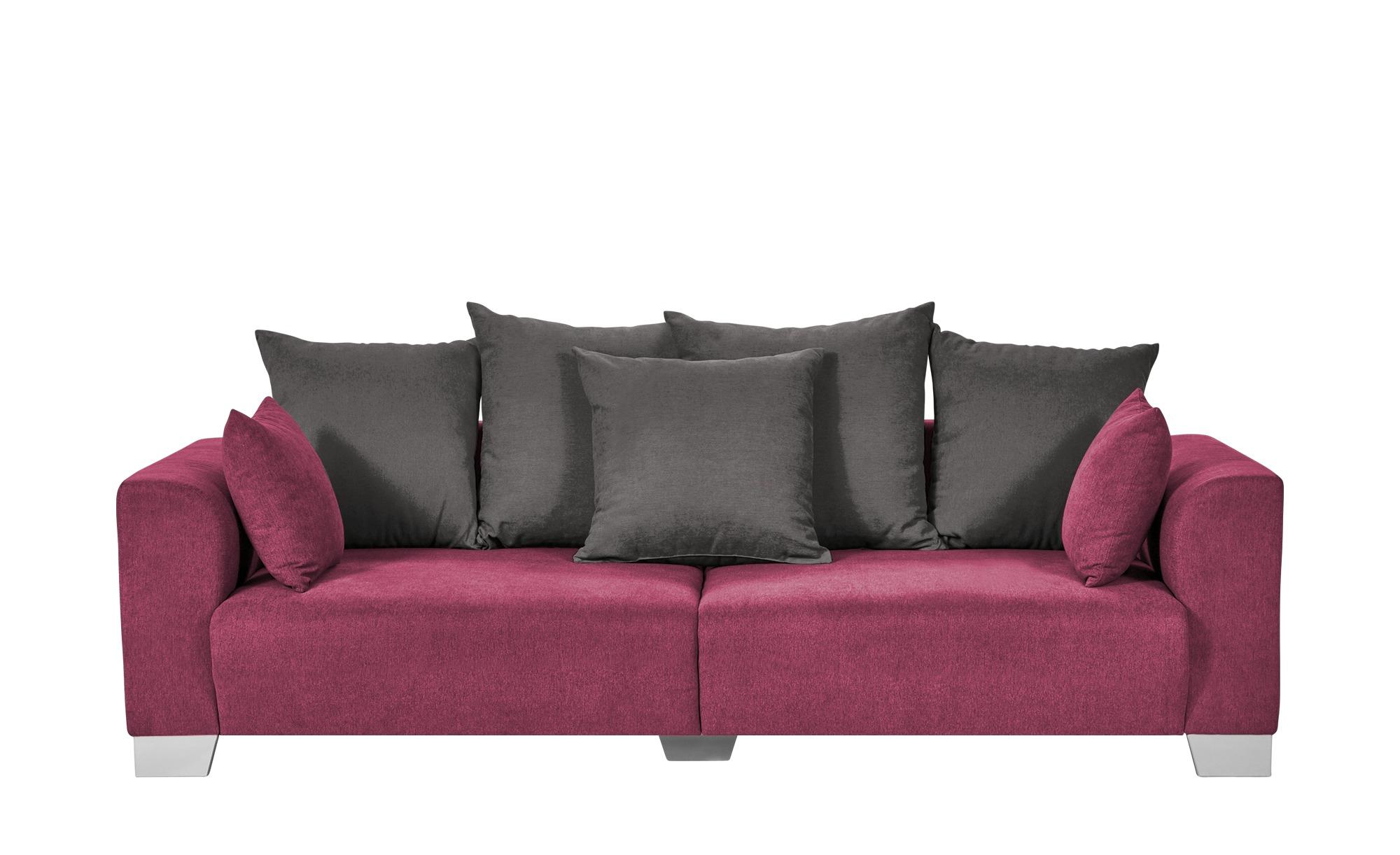 smart Big Sofa bordeaux - Flachgewebe Tonja ¦ rot ¦ Maße (cm): B: 244 H: 68 T: 107 Polstermöbel > Sofas > Big-Sofas - Höffner