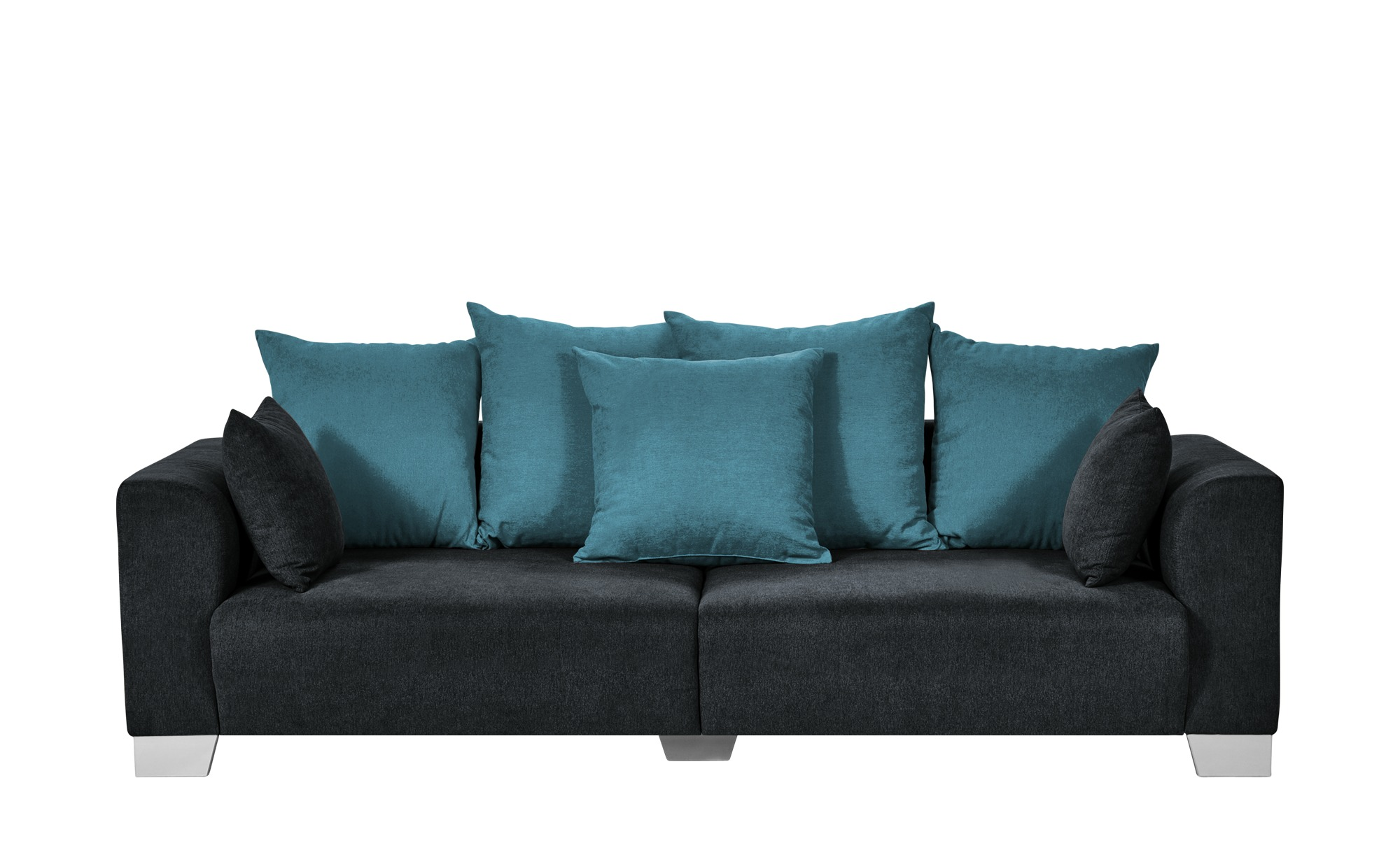 smart Big Sofa schwarz - Flachgewebe Tonja ¦ schwarz ¦ Maße (cm): B: 244 H: 68 T: 107 Polstermöbel > Sofas > Big-Sofas - Höffner