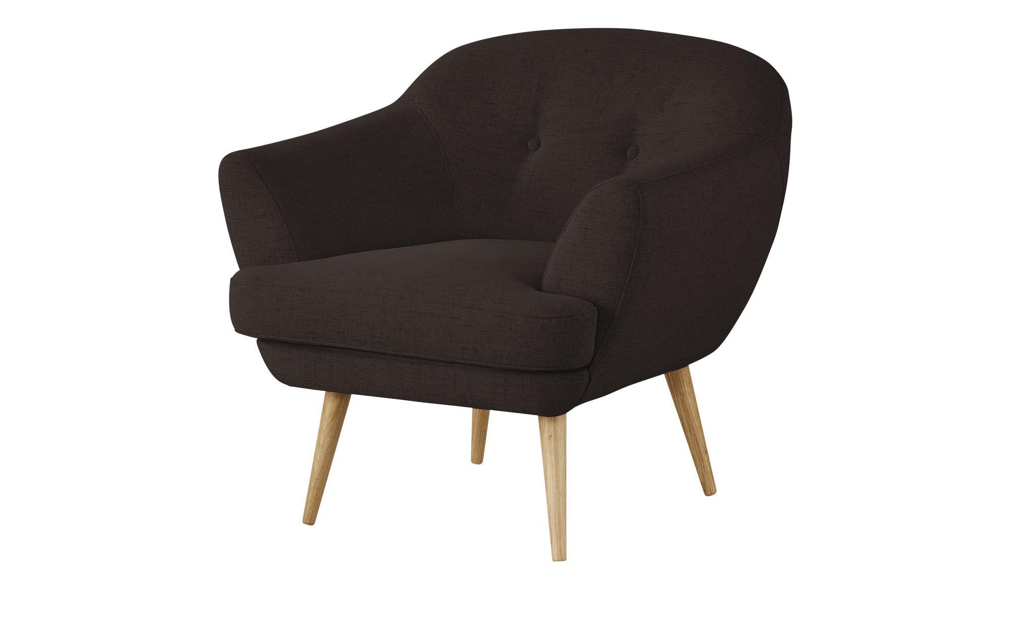 finya Sessel braun - Stoff Elara ¦ braun ¦ Maße (cm): B: 82 H: 80 T: 84 Polstermöbel > Sessel > Polstersessel - Höffner