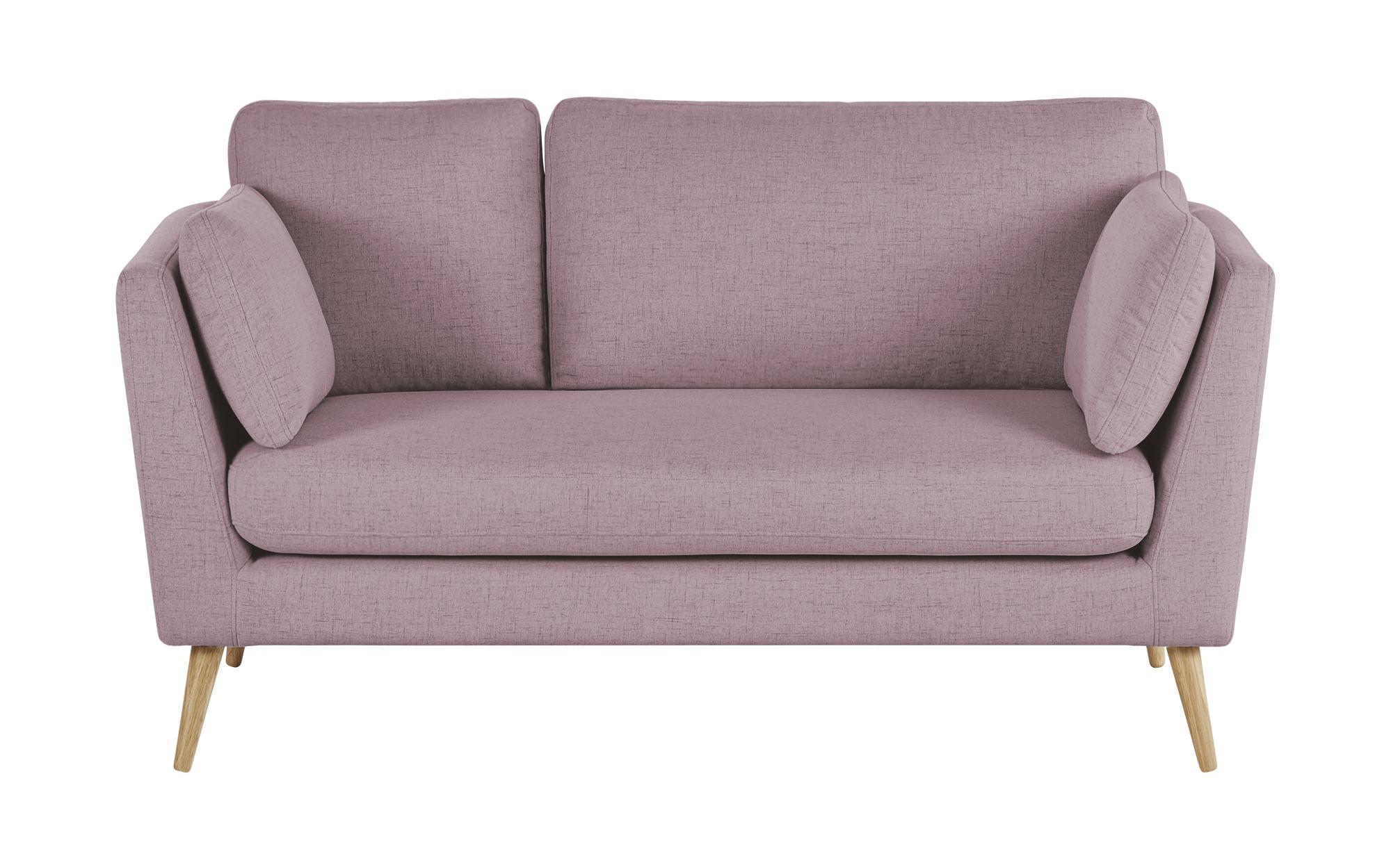 finya Skandi-Sofa altrosa - Webstoff Jane ¦ rosa/pink ¦ Maße (cm): B: 162 H: 92 T: 88 Polstermöbel > Sofas > 2-Sitzer - Höffner