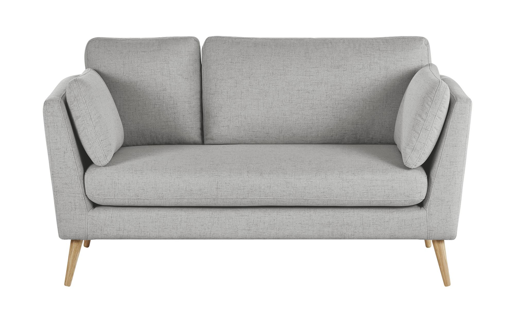 finya Skandi-Sofa grau - Webstoff Jane ¦ grau ¦ Maße (cm): B: 162 H: 92 T: 88 Polstermöbel > Sofas > 2-Sitzer - Höffner