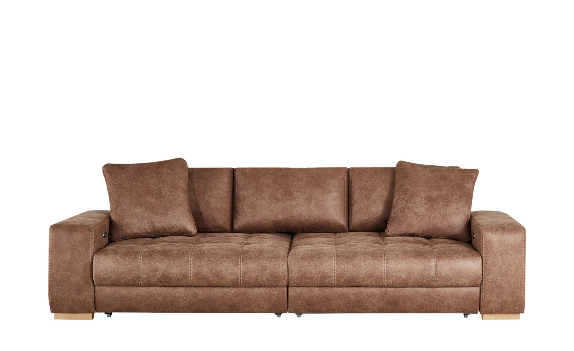 bobb Big Sofa cognac - Microfaser Caro ¦ braun ¦ Maße (cm): B: 302 H: 68 T: 136 Polstermöbel > Sofas > Big-Sofas - Höffner