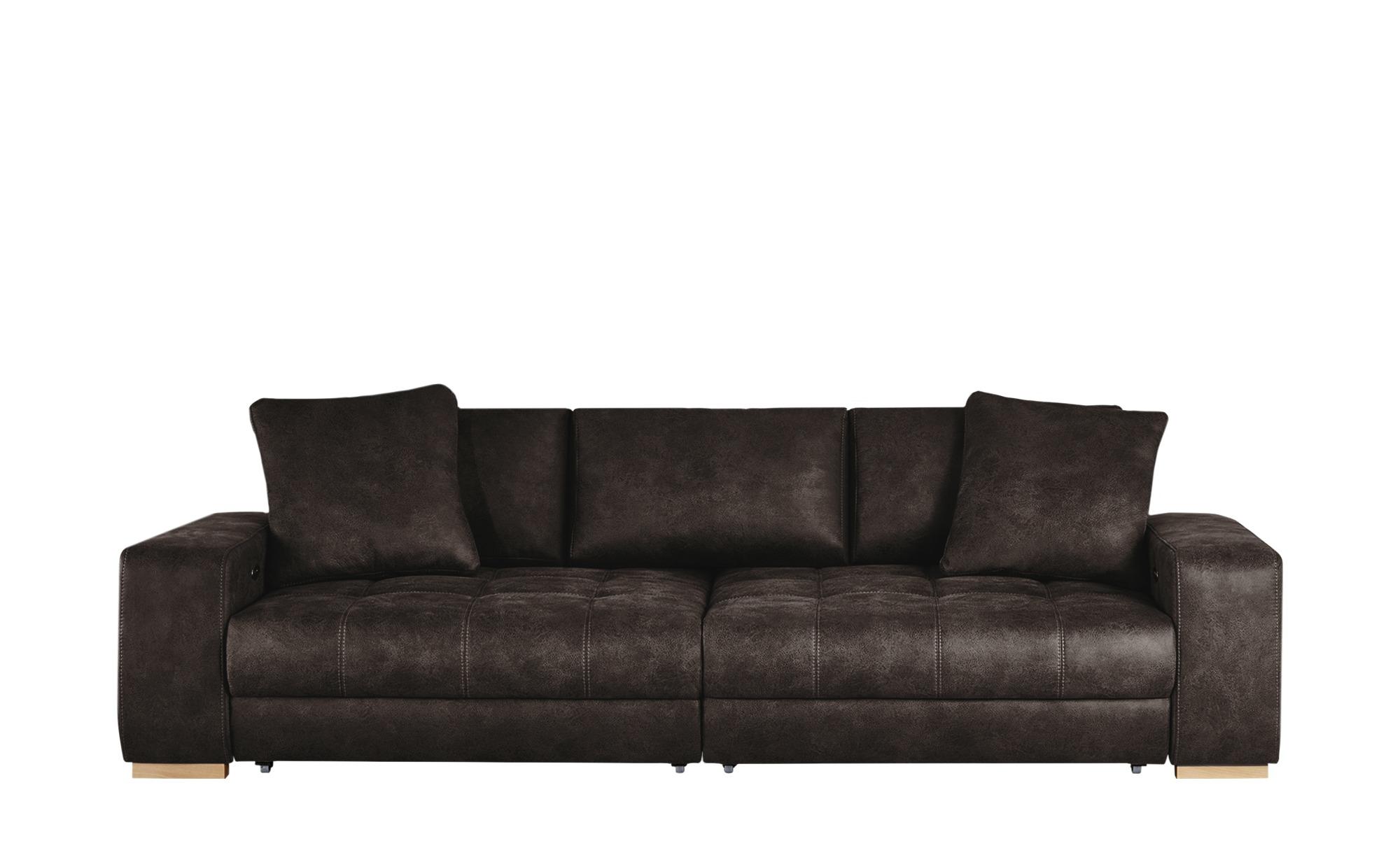 bobb Big Sofa dunkelbraun - Microfaser Caro ¦ braun ¦ Maße (cm): B: 302 H: 68 T: 136 Polstermöbel > Sofas > Big-Sofas - Höffner