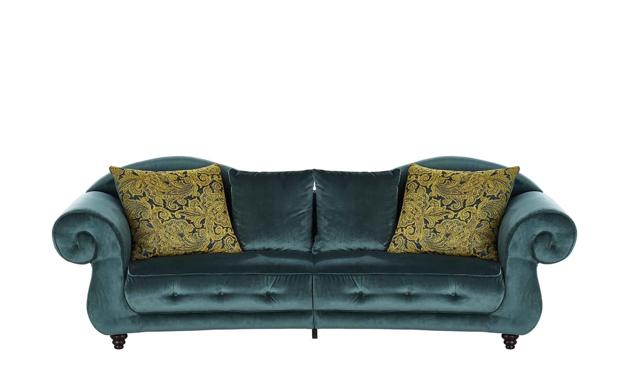 Design Big Sofa petrol - Mikrofaser Nobody ¦ türkis/petrol ¦ Maße (cm): B: 288 H: 98 T: 110 Polstermöbel > Sofas > Big-Sofas - Höffner