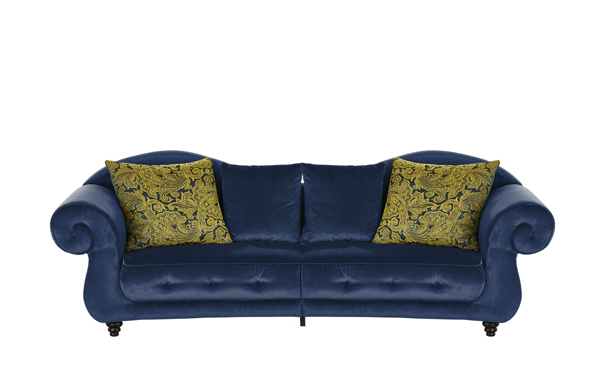Design Big Sofa blau - Mikrofaser Nobody ¦ blau ¦ Maße (cm): B: 288 H: 98 T: 110 Polstermöbel > Sofas > Big-Sofas - Höffner