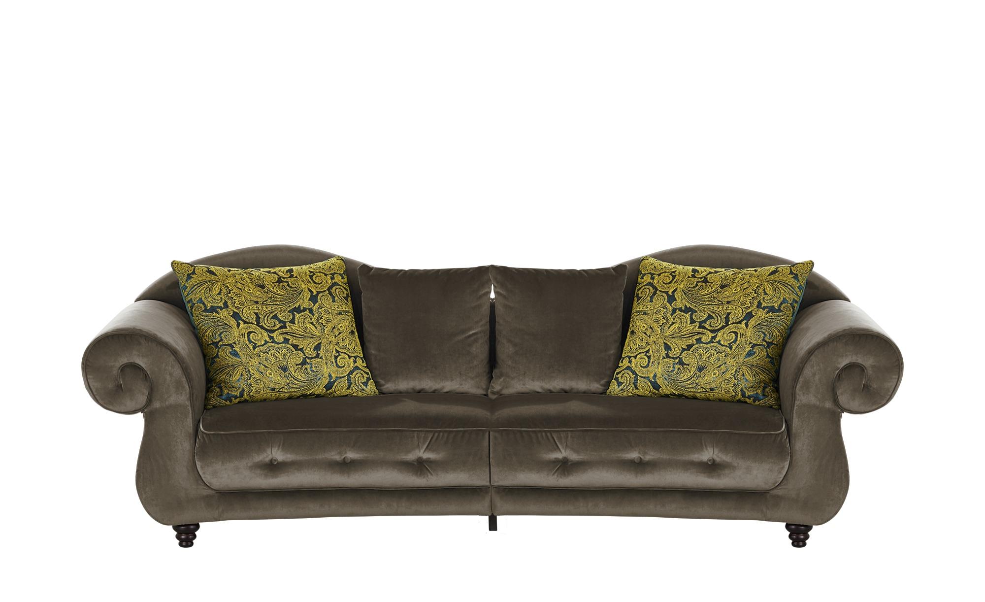 Design Big Sofa braun - Mikrofaser Nobody ¦ braun ¦ Maße (cm): B: 288 H: 98 T: 110 Polstermöbel > Sofas > Big-Sofas - Höffner
