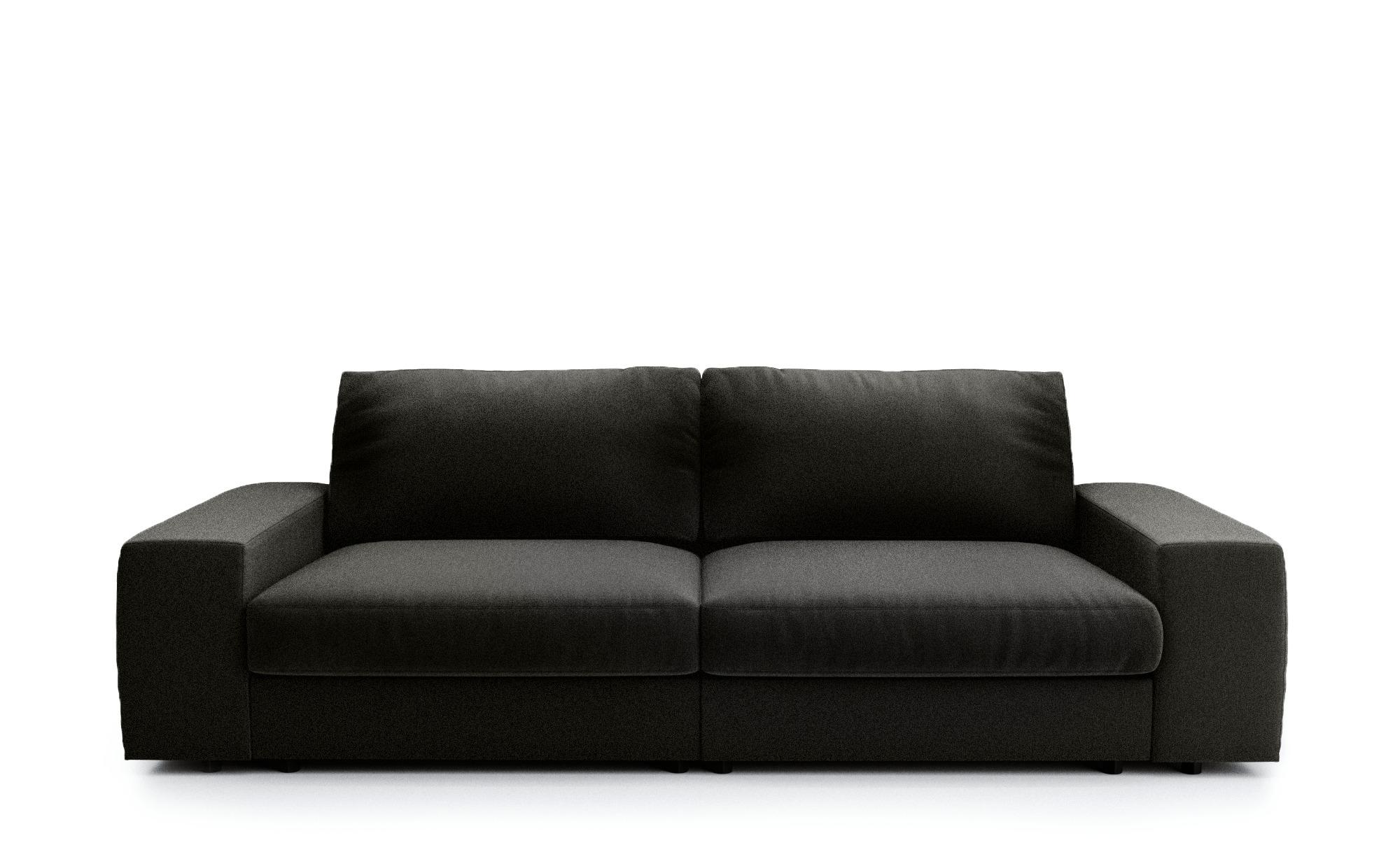 Big Sofa braun - Flachgewebe Brooke ¦ braun ¦ Maße (cm): B: 262 H: 88 T: 120 Polstermöbel > Sofas > Big-Sofas - Höffner