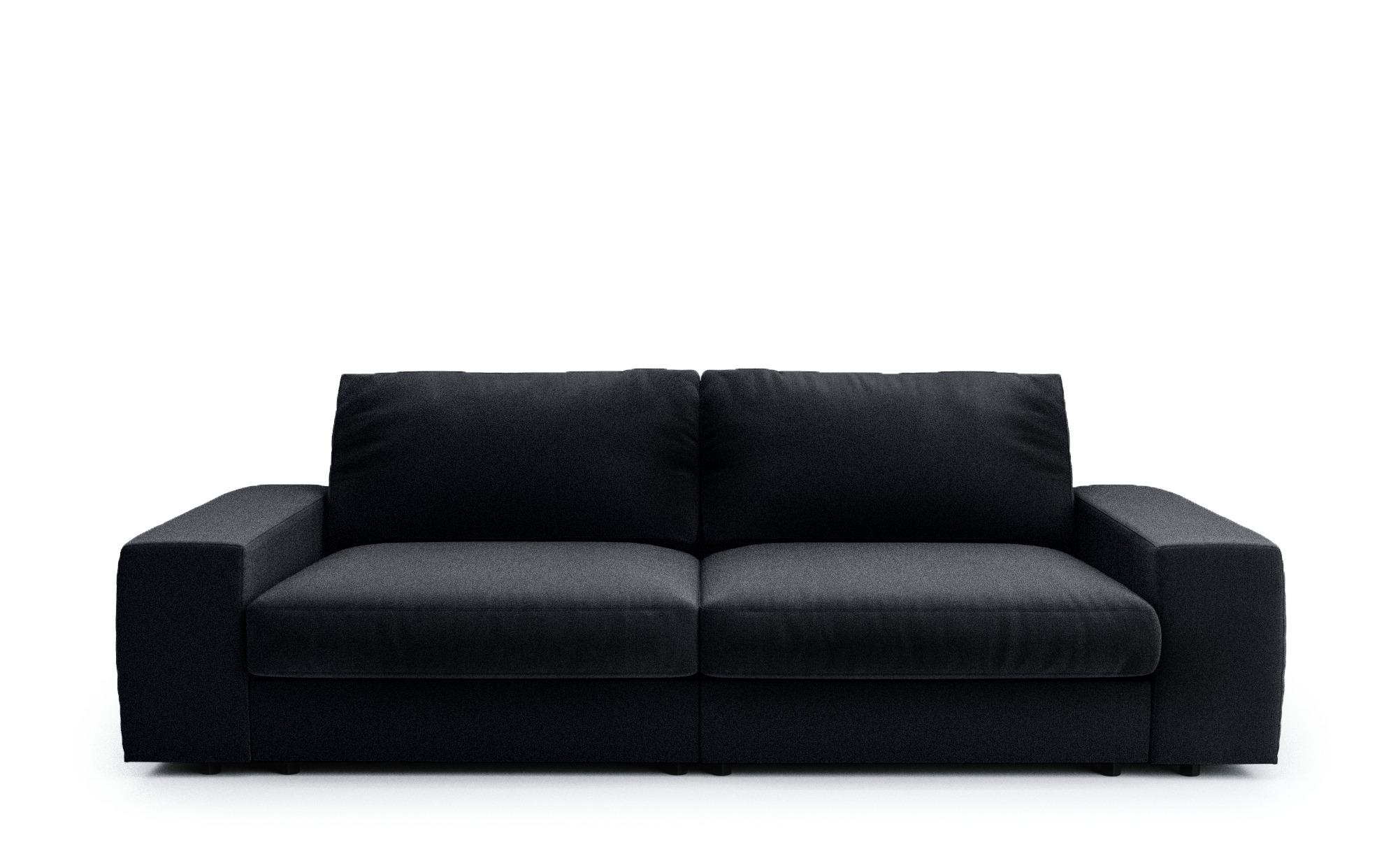 Big Sofa anthrazit - Flachgewebe Brooke ¦ grau ¦ Maße (cm): B: 262 H: 88 T: 120 Polstermöbel > Sofas > Big-Sofas - Höffner