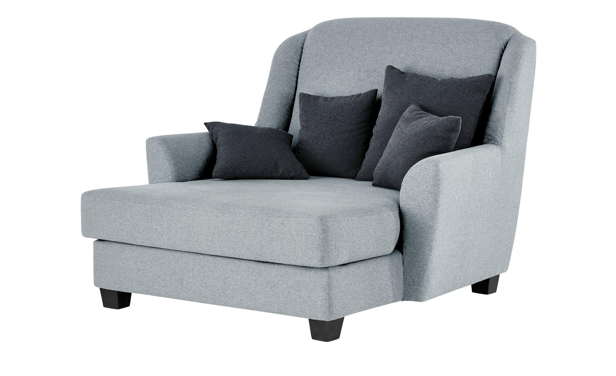 smart Sessel silber - Stoff Lisbeth ¦ grau ¦ Maße (cm): B: 135 H: 100 T: 144 Polstermöbel > Sessel > Ohrensessel - Höffner
