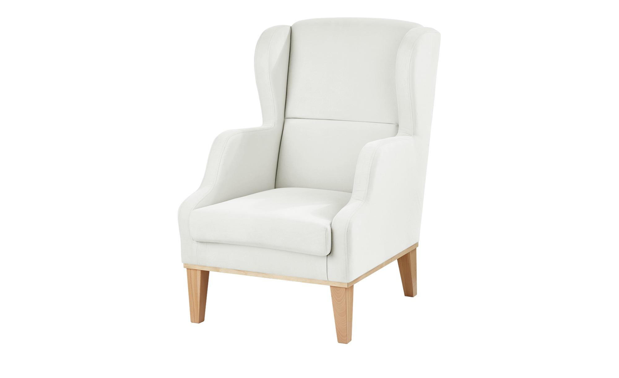 smart Sessel weiß - Stoff Marea ¦ weiß ¦ Maße (cm): B: 68 H: 102 T: 84 Polstermöbel > Sessel > Ohrensessel - Höffner