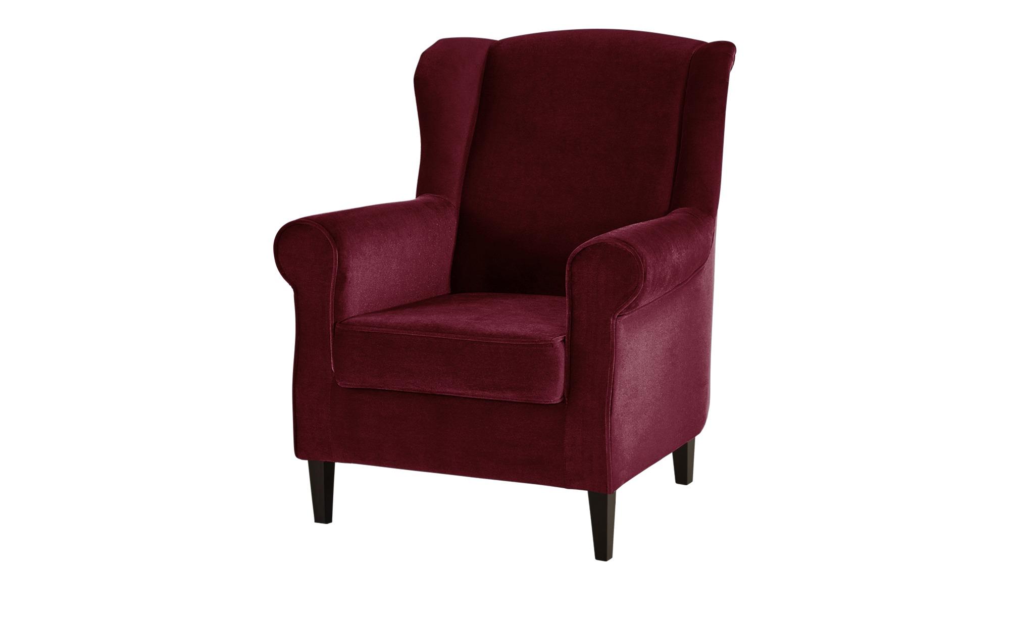 Ohrensessel rot - Stoff Britta ¦ rot ¦ Maße (cm): B: 81 H: 100 T: 90 Polstermöbel > Sessel > Ohrensessel - Höffner