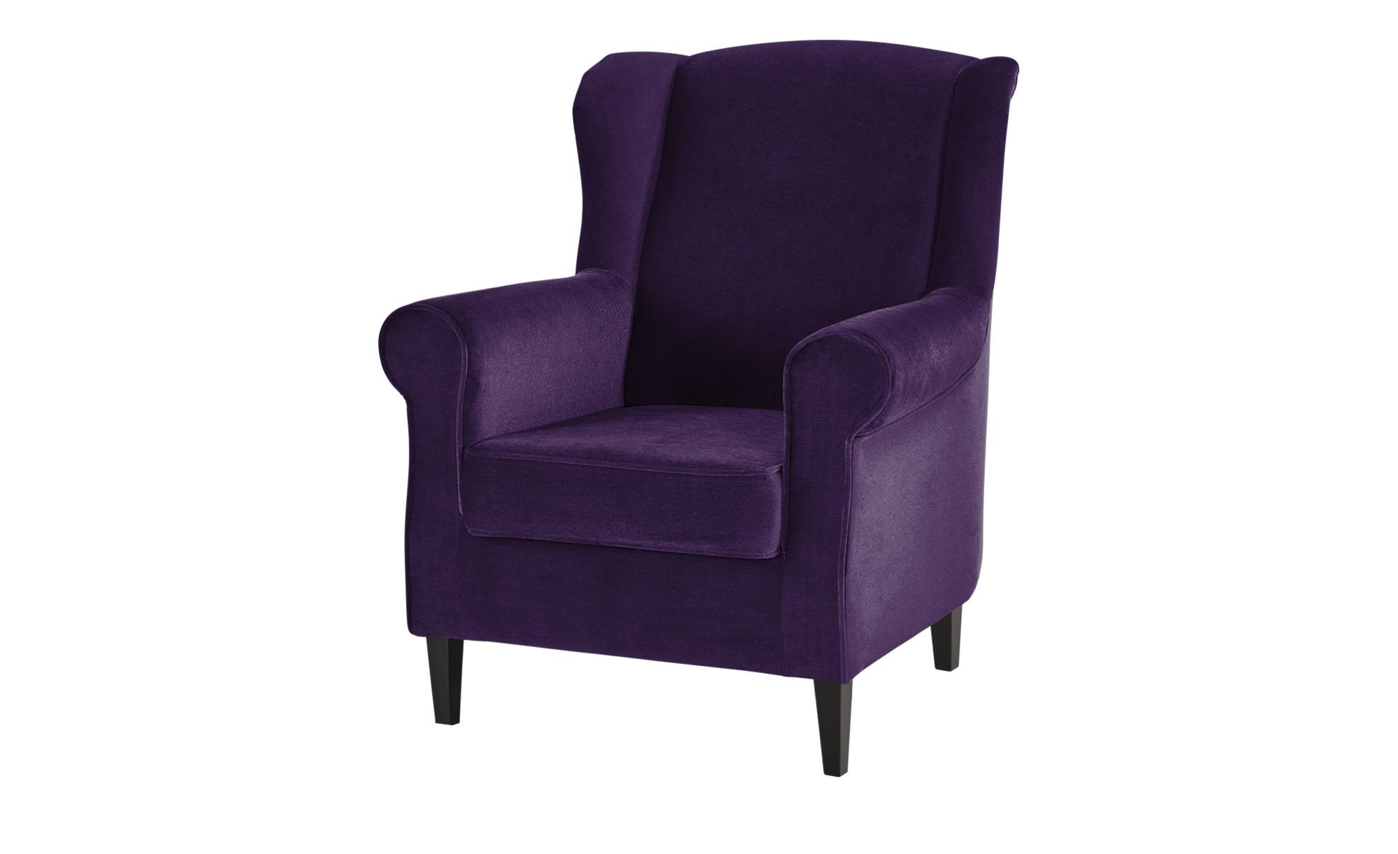 Ohrensessel  Britta ¦ lila/violett ¦ Maße (cm): B: 81 H: 100 T: 90 Polstermöbel > Sessel > Ohrensessel - Höffner