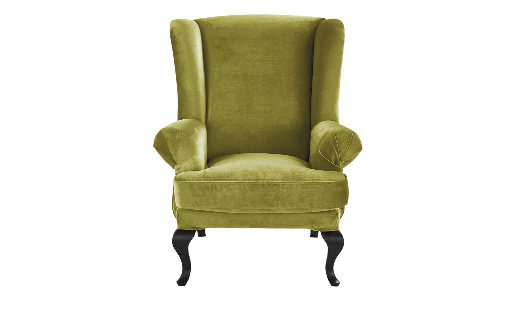 smart Ohrensessel grün - Stoff Charmaine ¦ grün ¦ Maße (cm): B: 84 H: 98 T: 85 Polstermöbel > Sessel > Ohrensessel - Höffner