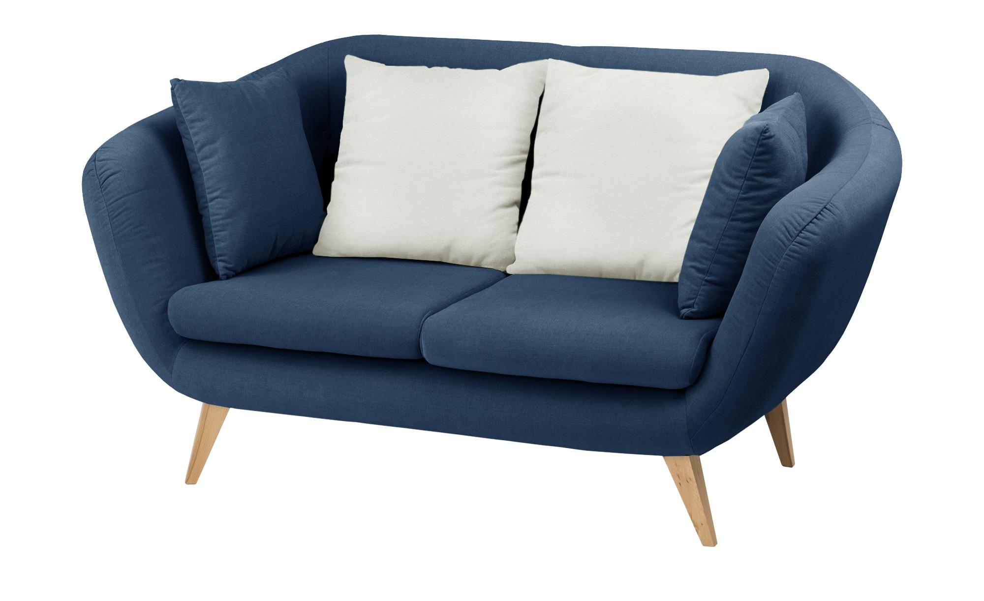 smart Sofa  blau - Mikrofaser Ricarda ¦ blau ¦ Maße (cm): B: 176 H: 93 T: 90 Polstermöbel > Sofas > 2-Sitzer - Höffner