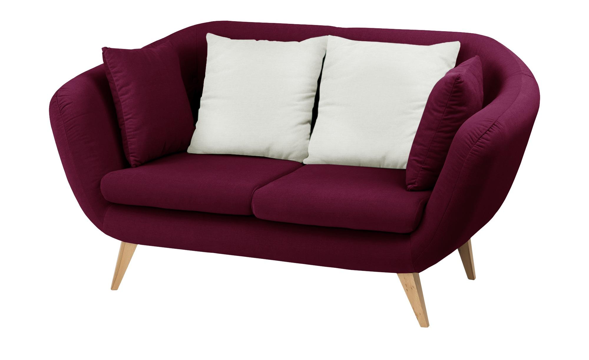 smart Sofa  bordeaux - Mikrofaser Ricarda ¦ rot ¦ Maße (cm): B: 176 H: 93 T: 90 Polstermöbel > Sofas > 2-Sitzer - Höffner