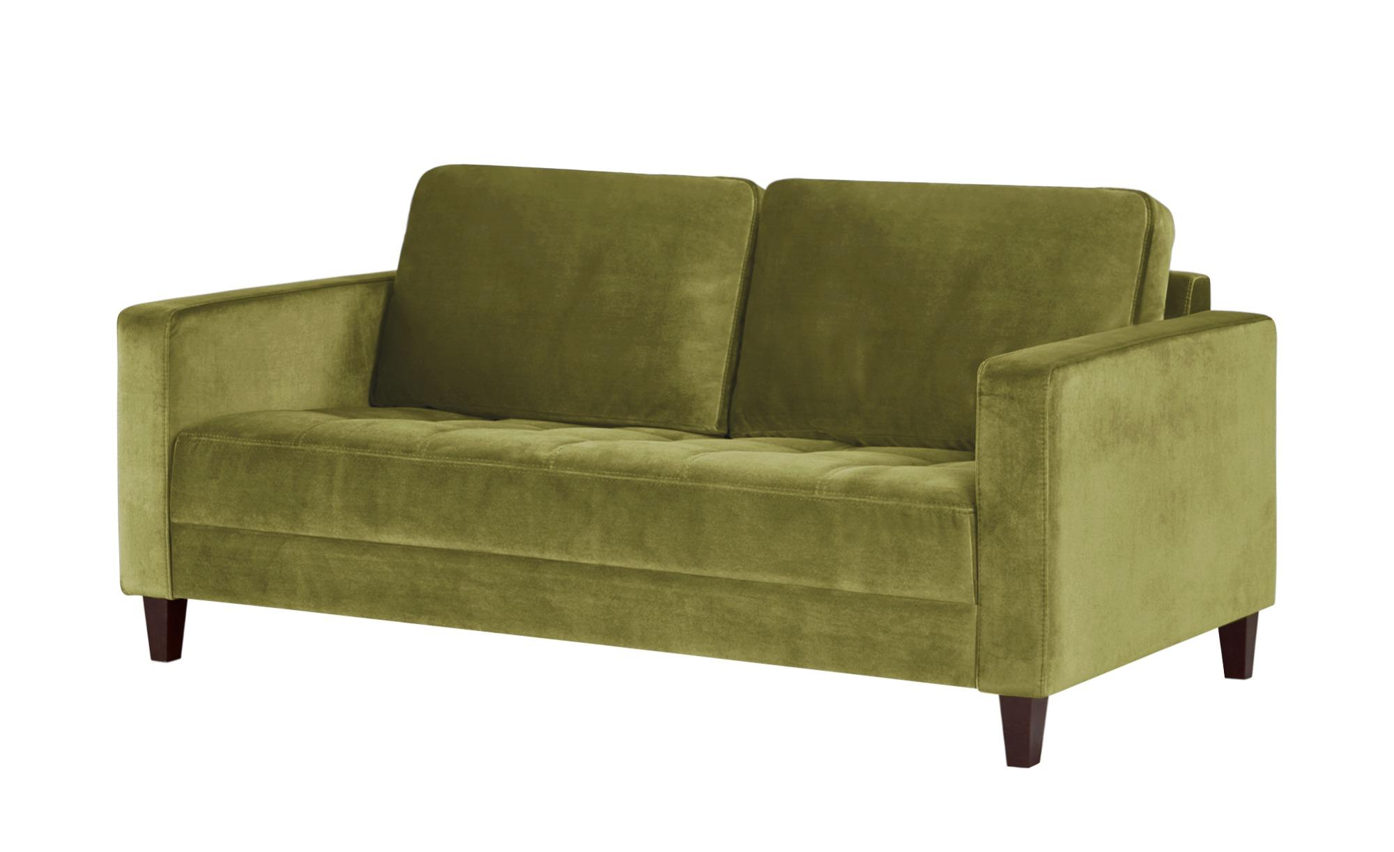 smart Sofa grün - Mikrofaser Geradine ¦ grün ¦ Maße (cm): B: 178 H: 83 T: 91 Polstermöbel > Sofas > 2-Sitzer - Höffner