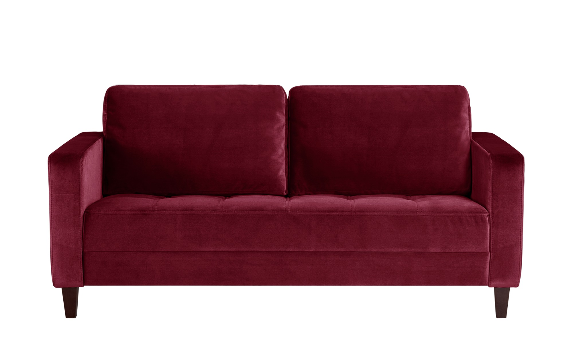 smart Sofa rot - Mikrofaser Geradine ¦ rot ¦ Maße (cm): B: 178 H: 83 T: 91 Polstermöbel > Sofas > 2-Sitzer - Höffner