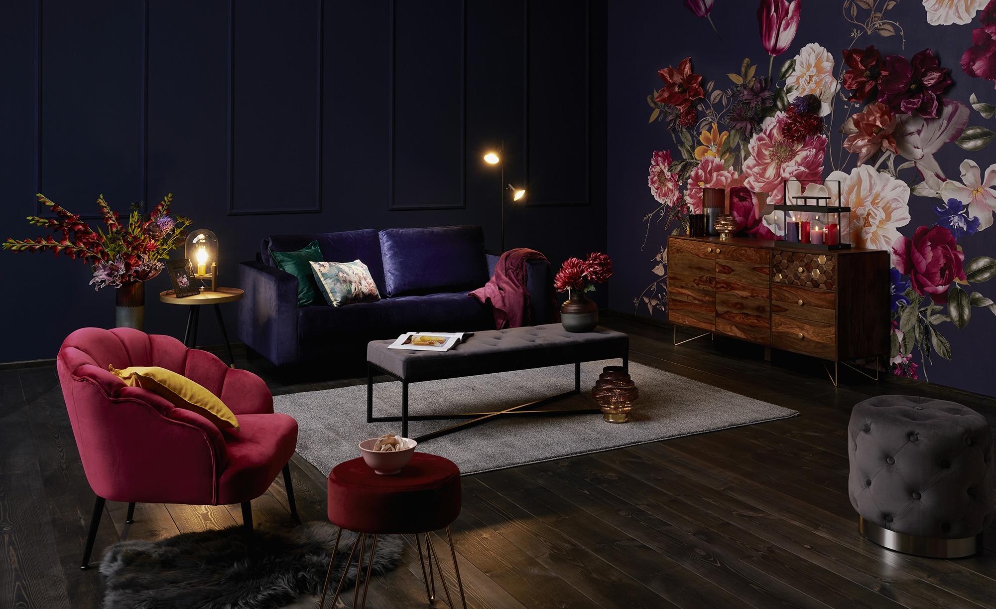 smart Sofa blau - Mikrofaser Geradine ¦ blau ¦ Maße (cm): B: 178 H: 83 T: 91 Polstermöbel > Sofas > 2-Sitzer - Höffner