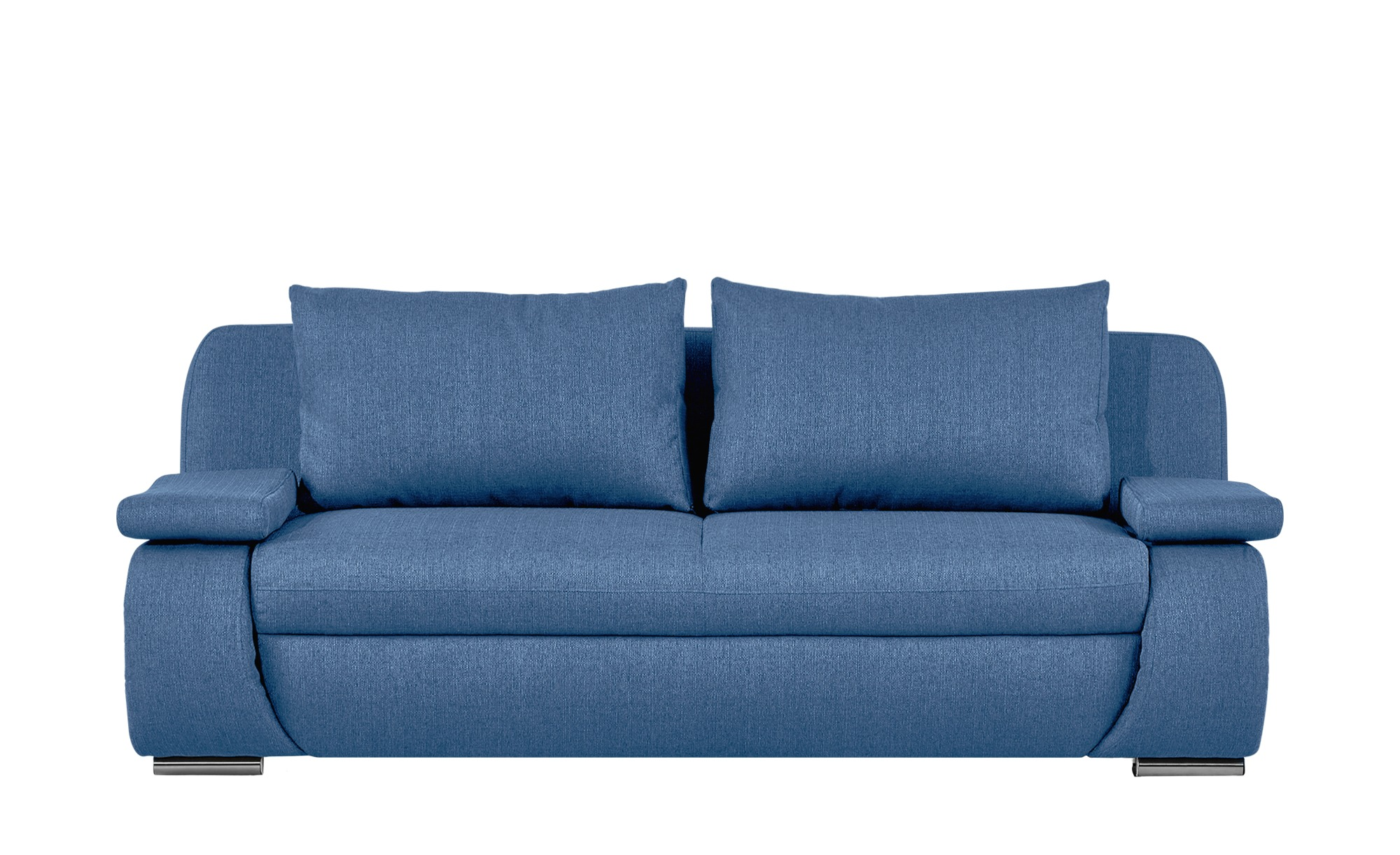 smart Schlafsofa  blau - Webstoff Bonita ¦ blau ¦ Maße (cm): B: 210 H: 87 T: 100 Polstermöbel > Sofas > 2-Sitzer - Höffner