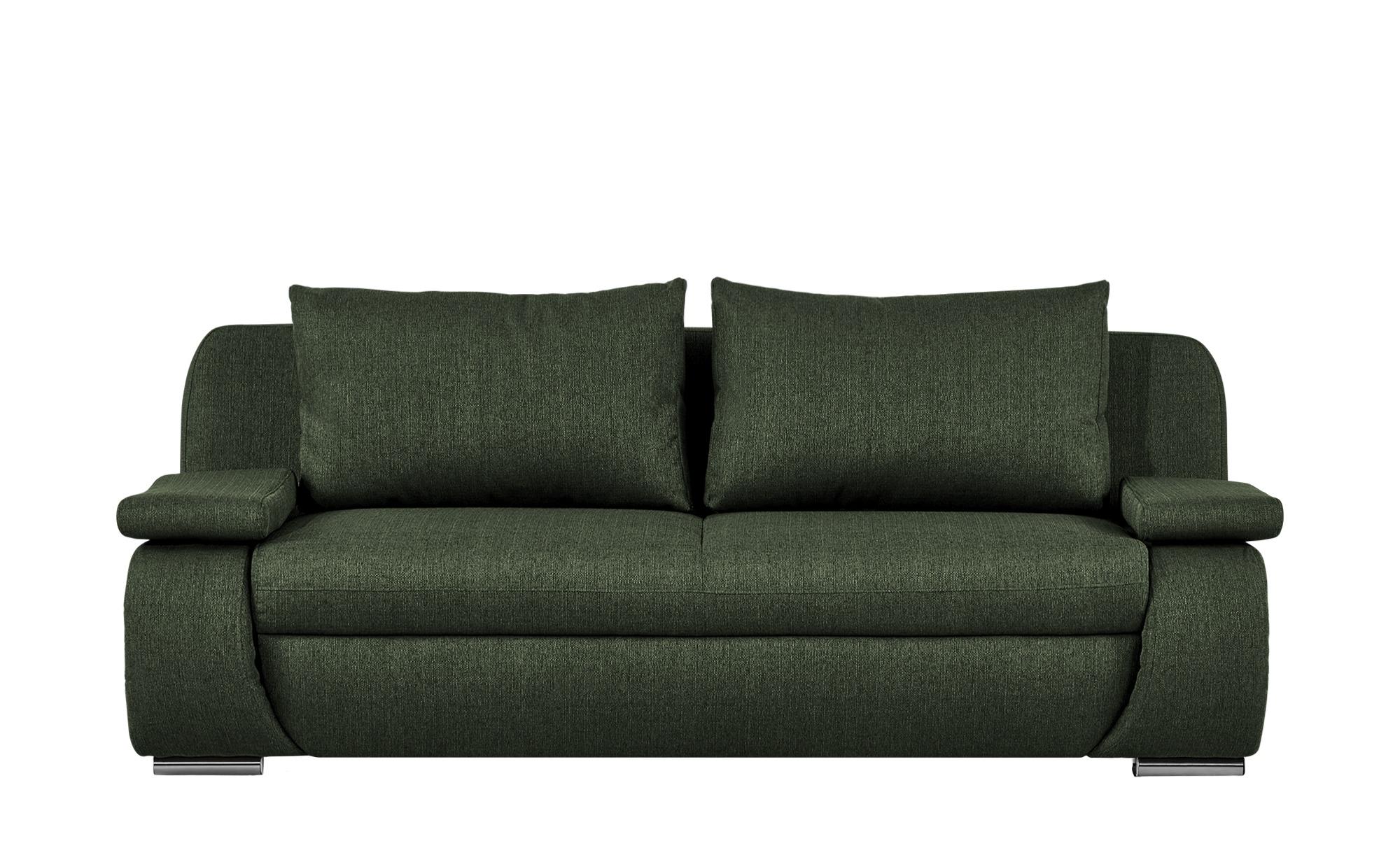 smart Schlafsofa  grün - Webstoff Bonita ¦ grün ¦ Maße (cm): B: 210 H: 87 T: 100 Polstermöbel > Sofas > 2-Sitzer - Höffner