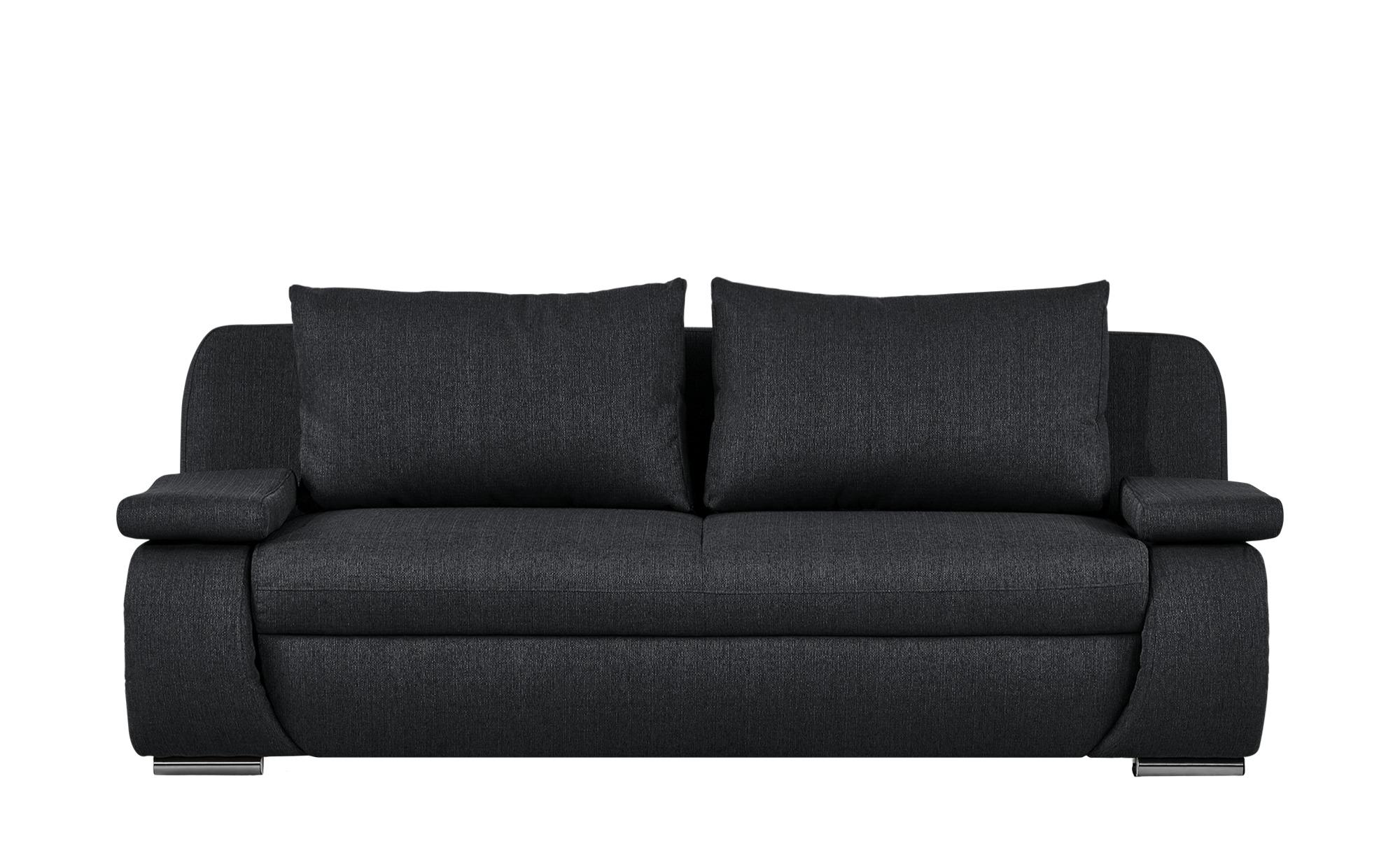 smart Schlafsofa  schwarz - Webstoff Bonita ¦ schwarz ¦ Maße (cm): B: 210 H: 87 T: 100 Polstermöbel > Sofas > 2-Sitzer - Höffner