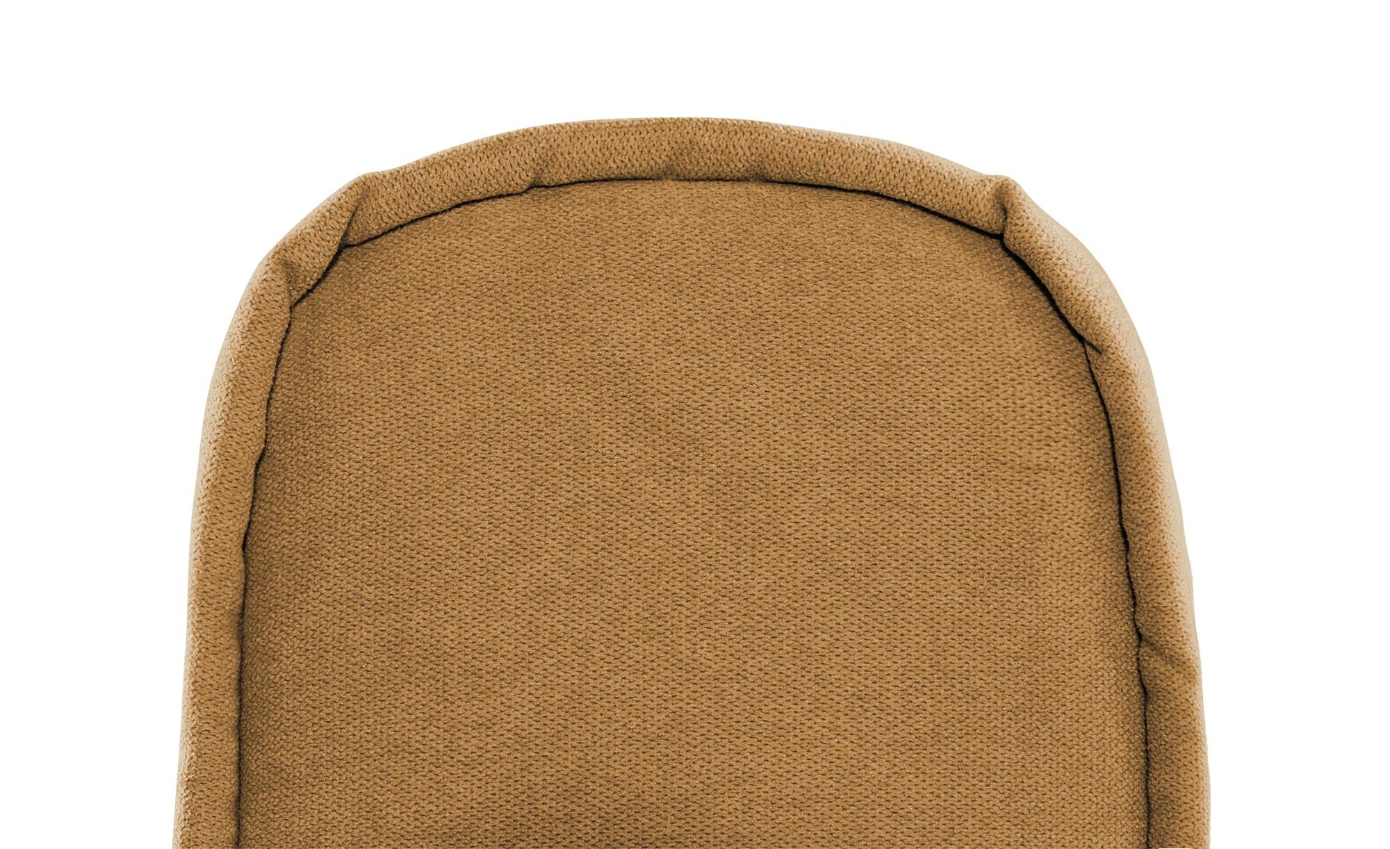 smart Schlafsofa ocker - Webstoff Alina ¦ orange ¦ Maße (cm): B: 200 H: 90 T: 100 Polstermöbel > Sofas > 2-Sitzer - Höffner