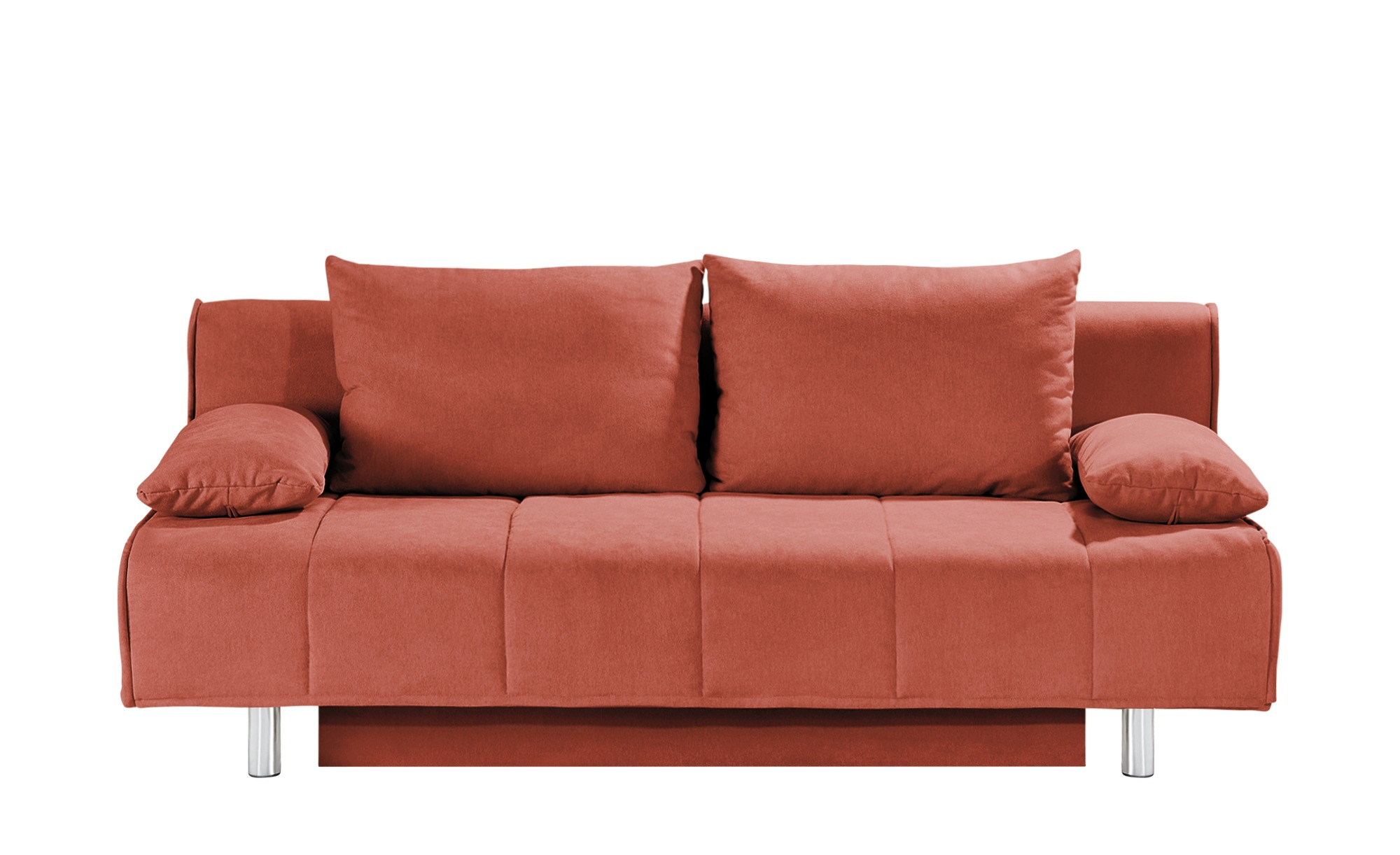 smart Schlafsofa orange - Webstoff Alina ¦ orange ¦ Maße (cm): B: 200 H: 90 T: 100 Polstermöbel > Sofas > 2-Sitzer - Höffner