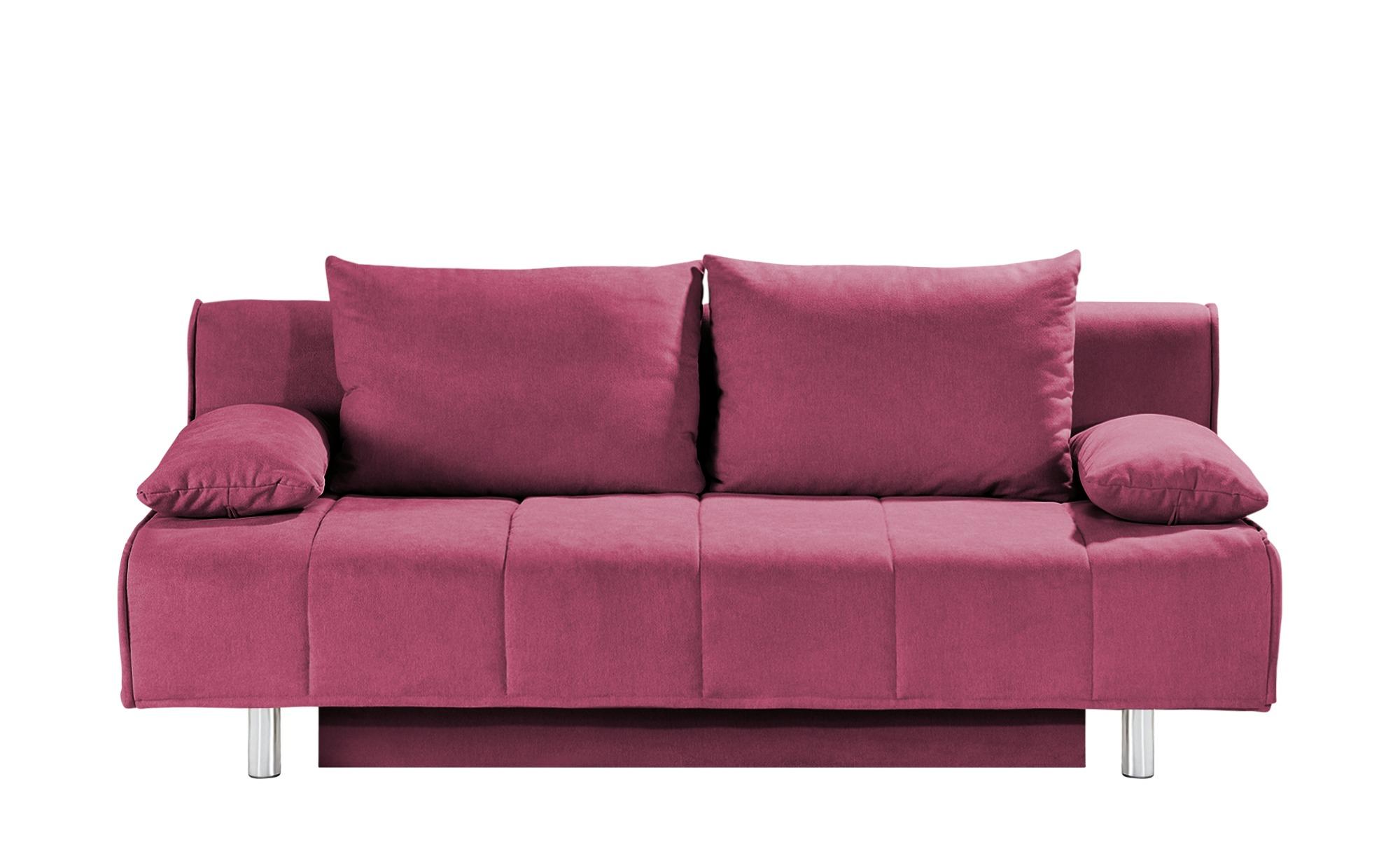 smart Schlafsofa bordeaux - Webstoff Alina ¦ rosa/pink ¦ Maße (cm): B: 200 H: 90 T: 100 Polstermöbel > Sofas > 2-Sitzer - Höffner