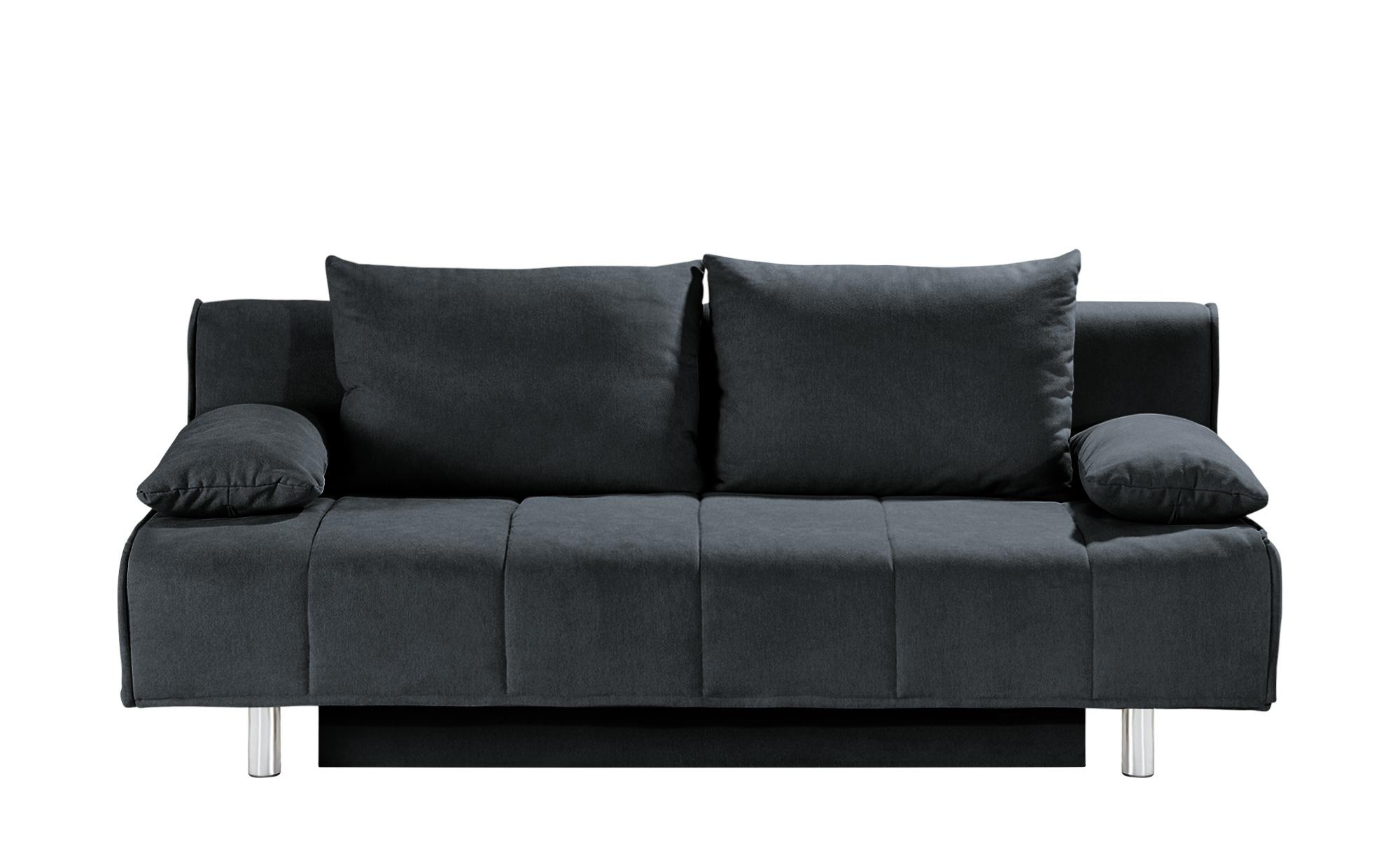 smart Schlafsofa schwarz - Webstoff Alina ¦ schwarz ¦ Maße (cm): B: 200 H: 90 T: 100 Polstermöbel > Sofas > 2-Sitzer - Höffner