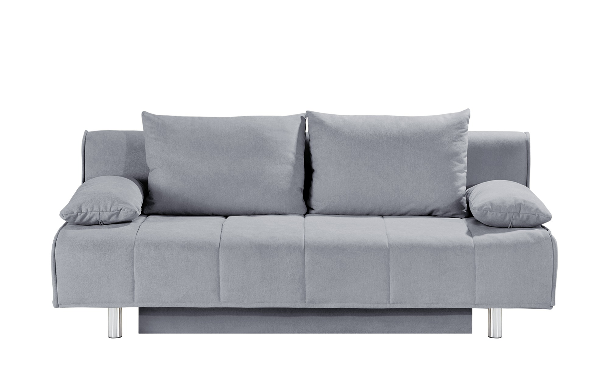 smart Schlafsofa grau - Webstoff Alina ¦ grau ¦ Maße (cm): B: 200 H: 90 T: 100 Polstermöbel > Sofas > 2-Sitzer - Höffner