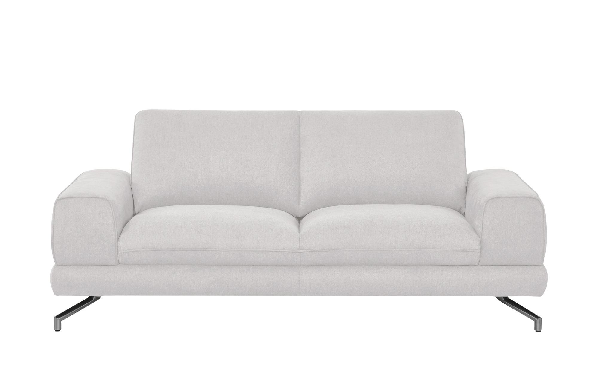smart Sofa weiß - Webstoff Bonika ¦ weiß ¦ Maße (cm): B: 198 H: 83 T: 95 Polstermöbel > Sofas > Einzelsofas - Höffner