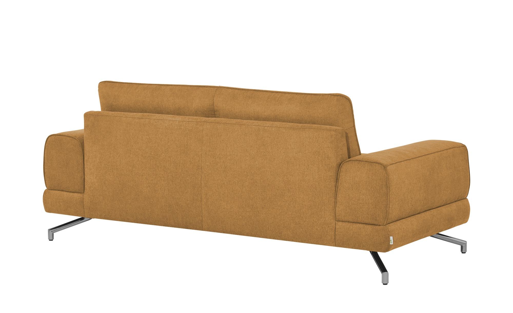 smart Sofa ocker - Stoff Bonika ¦ orange ¦ Maße (cm): B: 198 H: 83 T: 95 Polstermöbel > Sofas > Einzelsofas - Höffner
