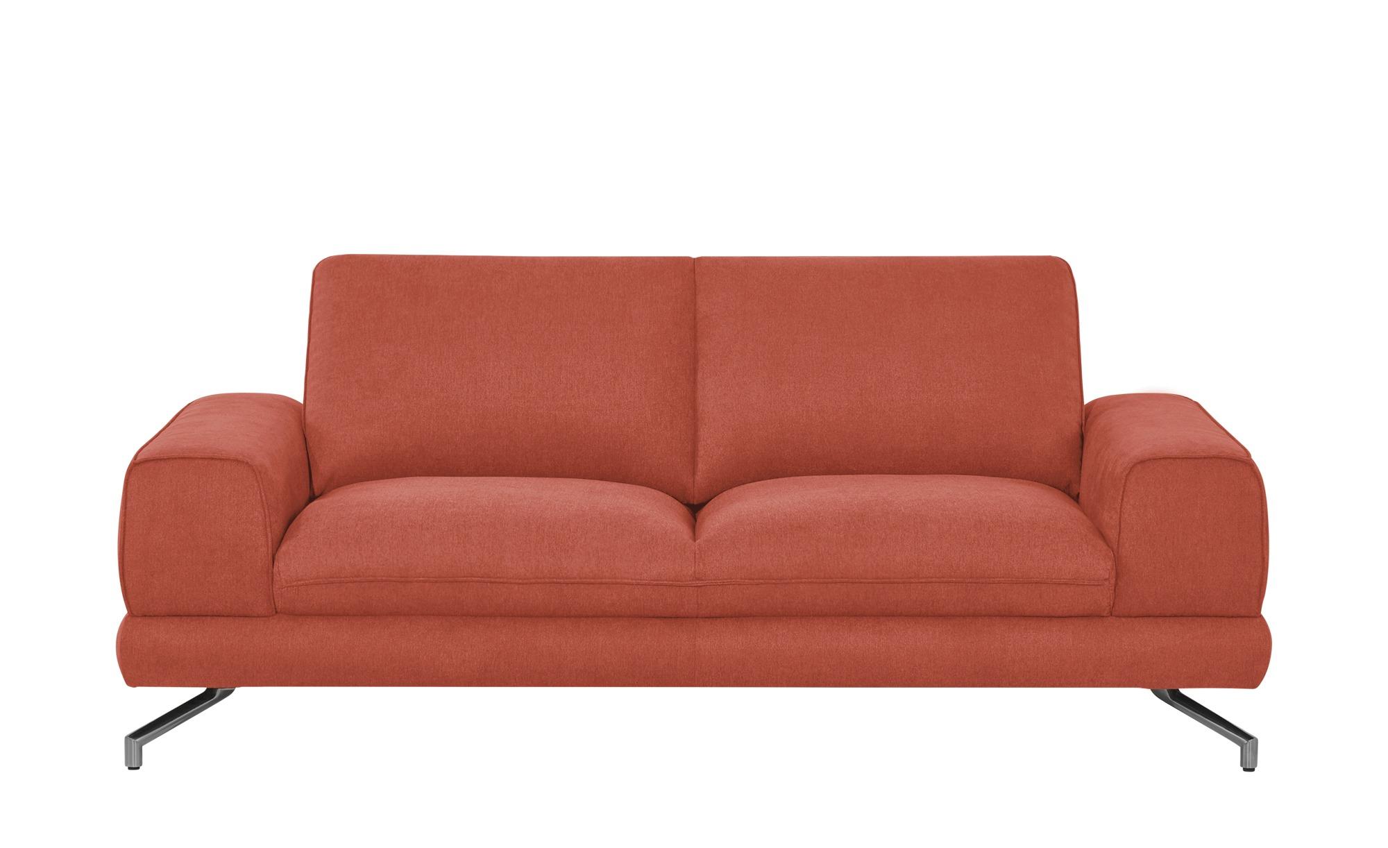 smart Sofa orange - Stoff Bonika ¦ orange ¦ Maße (cm): B: 198 H: 83 T: 95 Polstermöbel > Sofas > Einzelsofas - Höffner