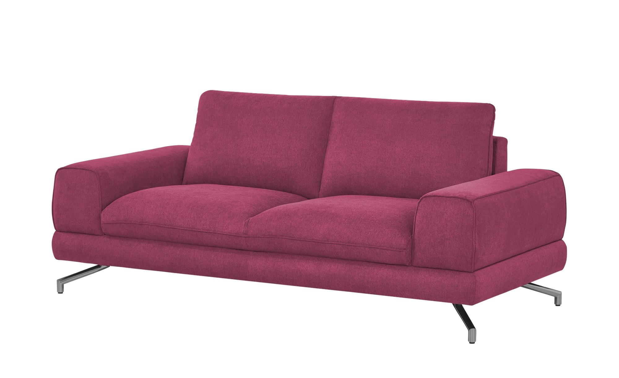 smart Sofa bordeaux - Stoff Bonika ¦ rot ¦ Maße (cm): B: 198 H: 83 T: 95 Polstermöbel > Sofas > Einzelsofas - Höffner