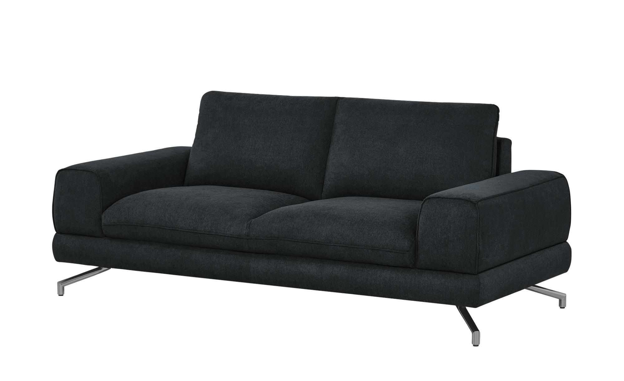 smart Sofa schwarz - Webstoff Bonika ¦ schwarz ¦ Maße (cm): B: 198 H: 83 T: 95 Polstermöbel > Sofas > Einzelsofas - Höffner