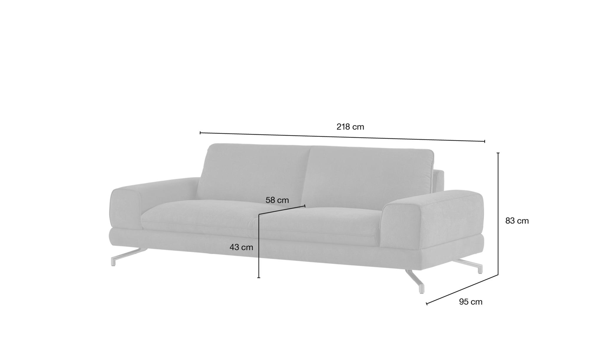 smart Sofa orange - Stoff Bonika | 3-Sitzer, Orange