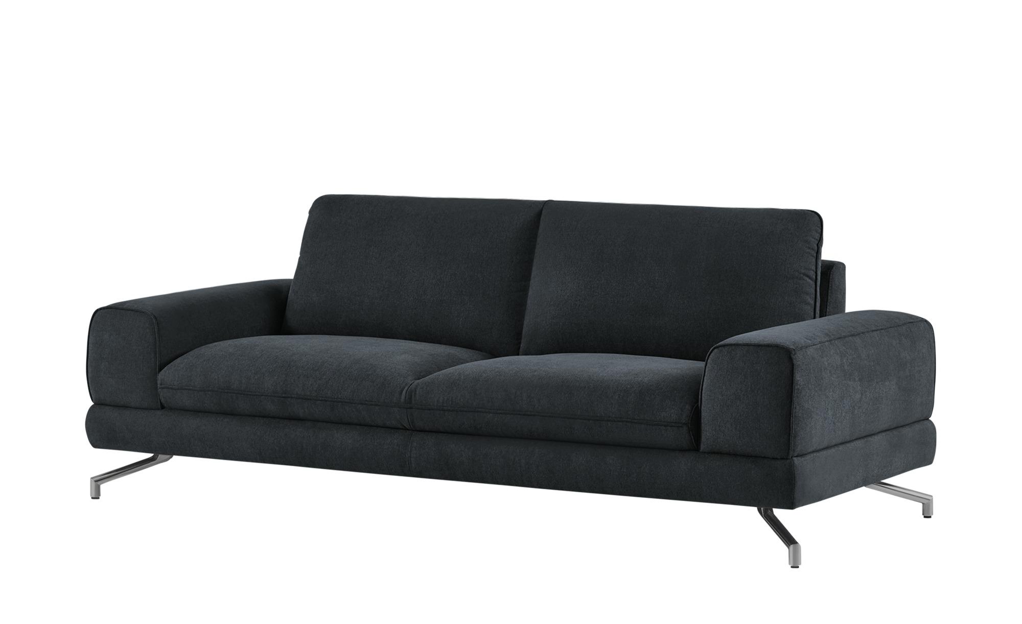 smart Sofa schwarz - Stoff Bonika ¦ schwarz ¦ Maße (cm): B: 218 H: 83 T: 95 Polstermöbel > Sofas > 3-Sitzer - Höffner