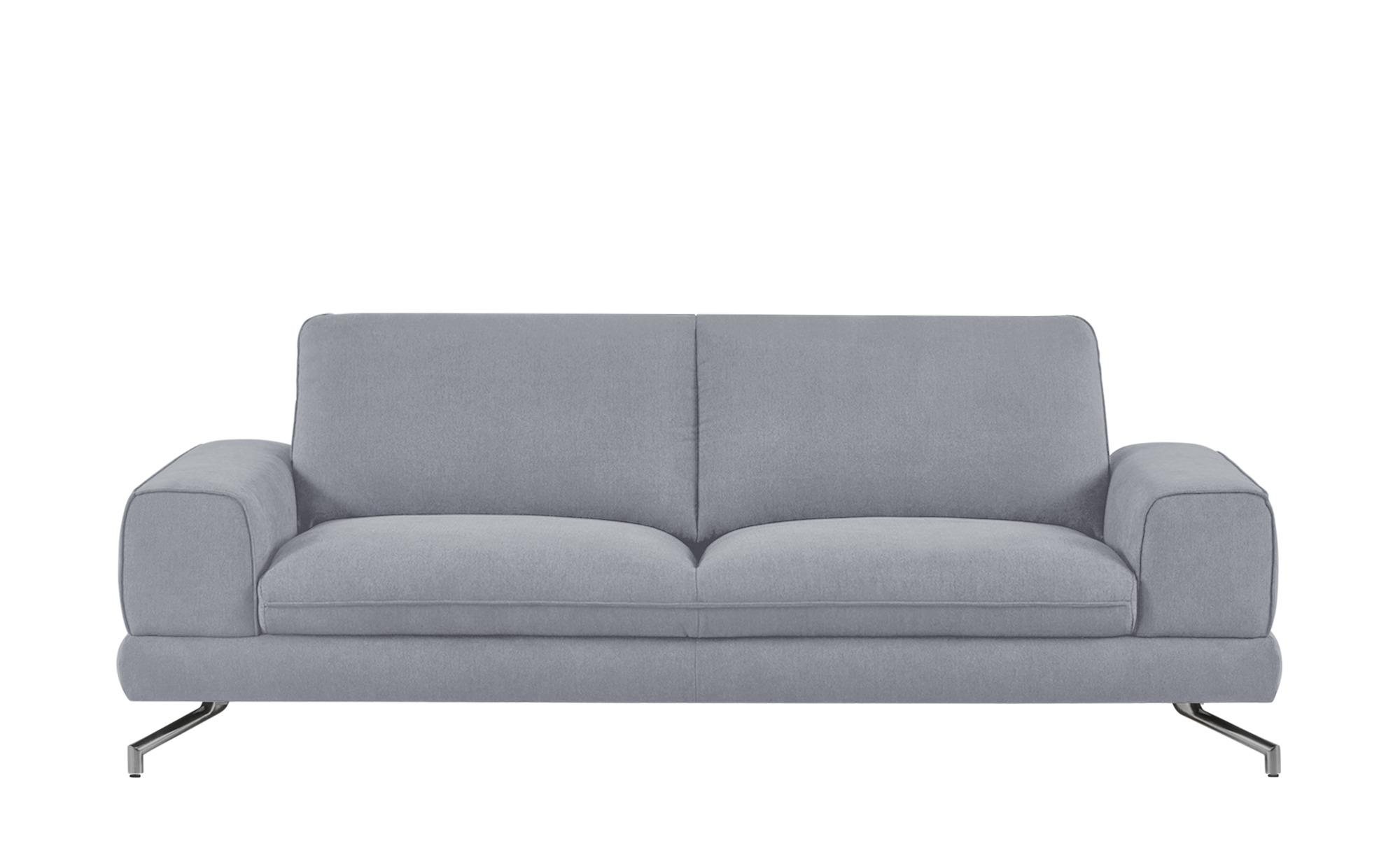 smart Sofa grau - Stoff Bonika ¦ silber ¦ Maße (cm): B: 218 H: 83 T: 95 Polstermöbel > Sofas > 3-Sitzer - Höffner