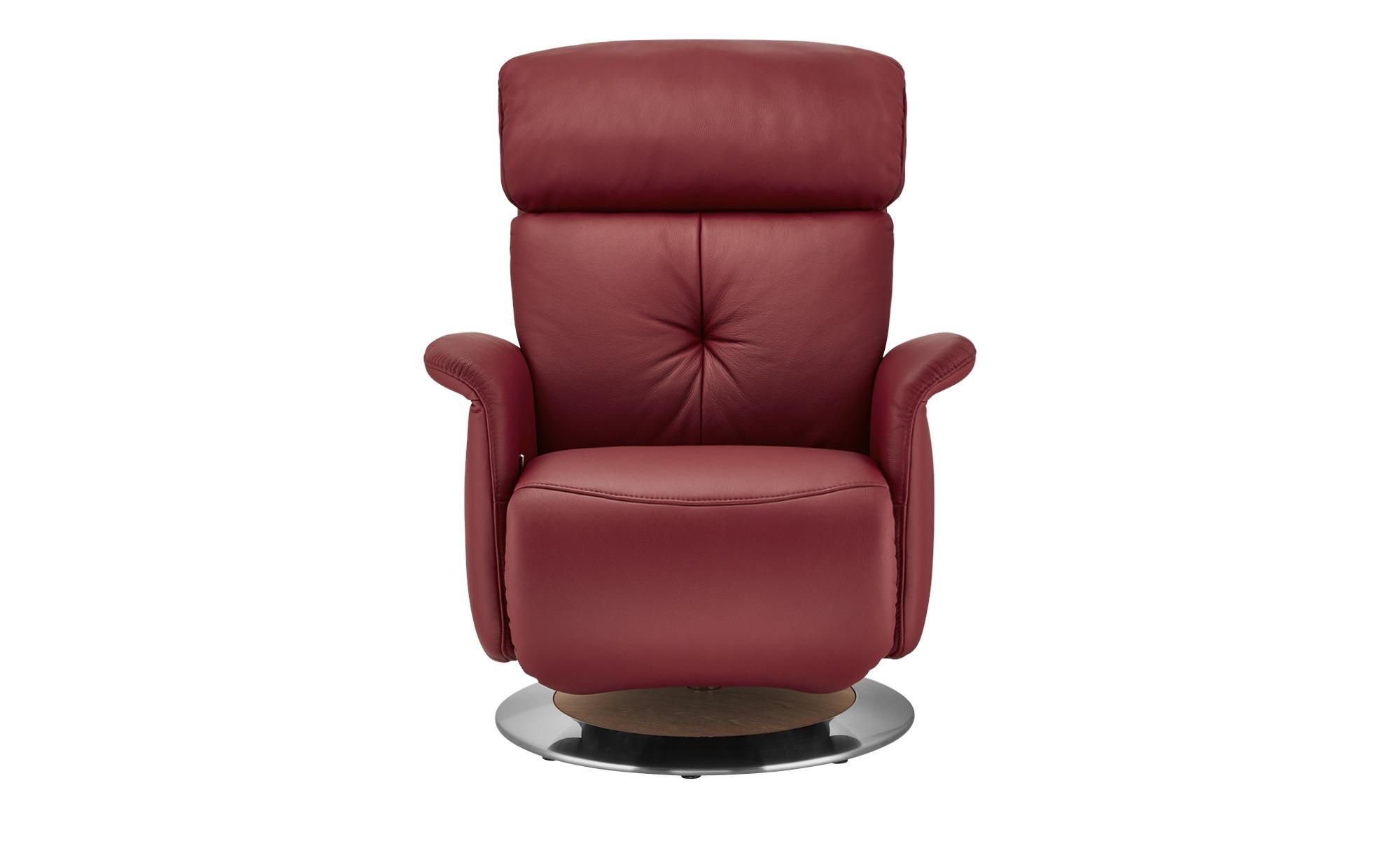 himolla Funktionssessel  7708 ¦ rot ¦ Maße (cm): B: 79 H: 99 T: 101 Polstermöbel > Sessel > Ledersessel - Höffner